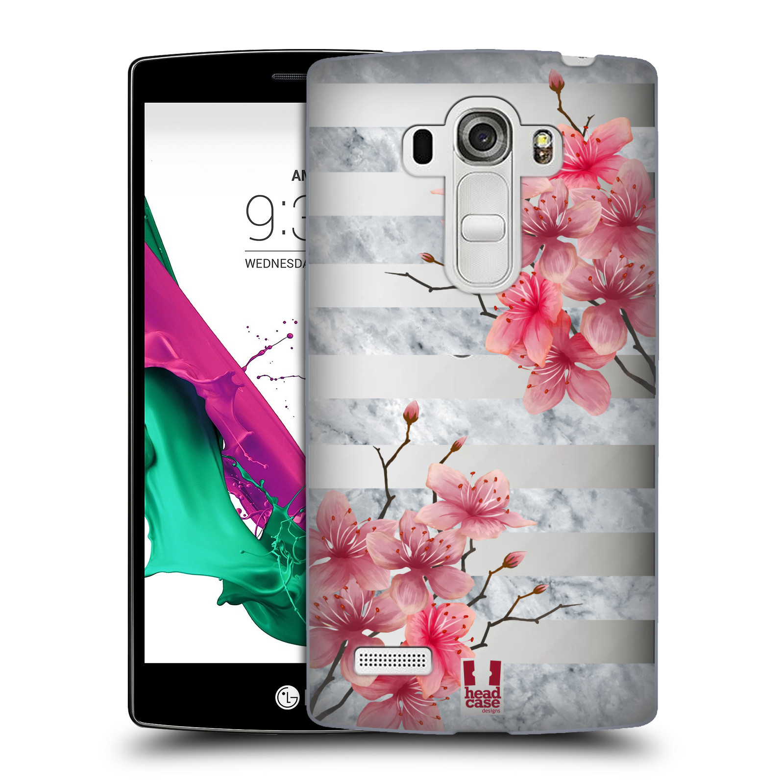 Plastové pouzdro na mobil LG G4s - Head Case - Kvítka a mramor