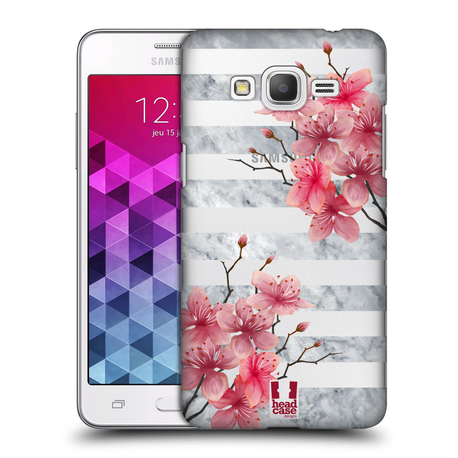 Plastové pouzdro na mobil Samsung Galaxy Grand Prime - Head Case - Kvítka a mramor