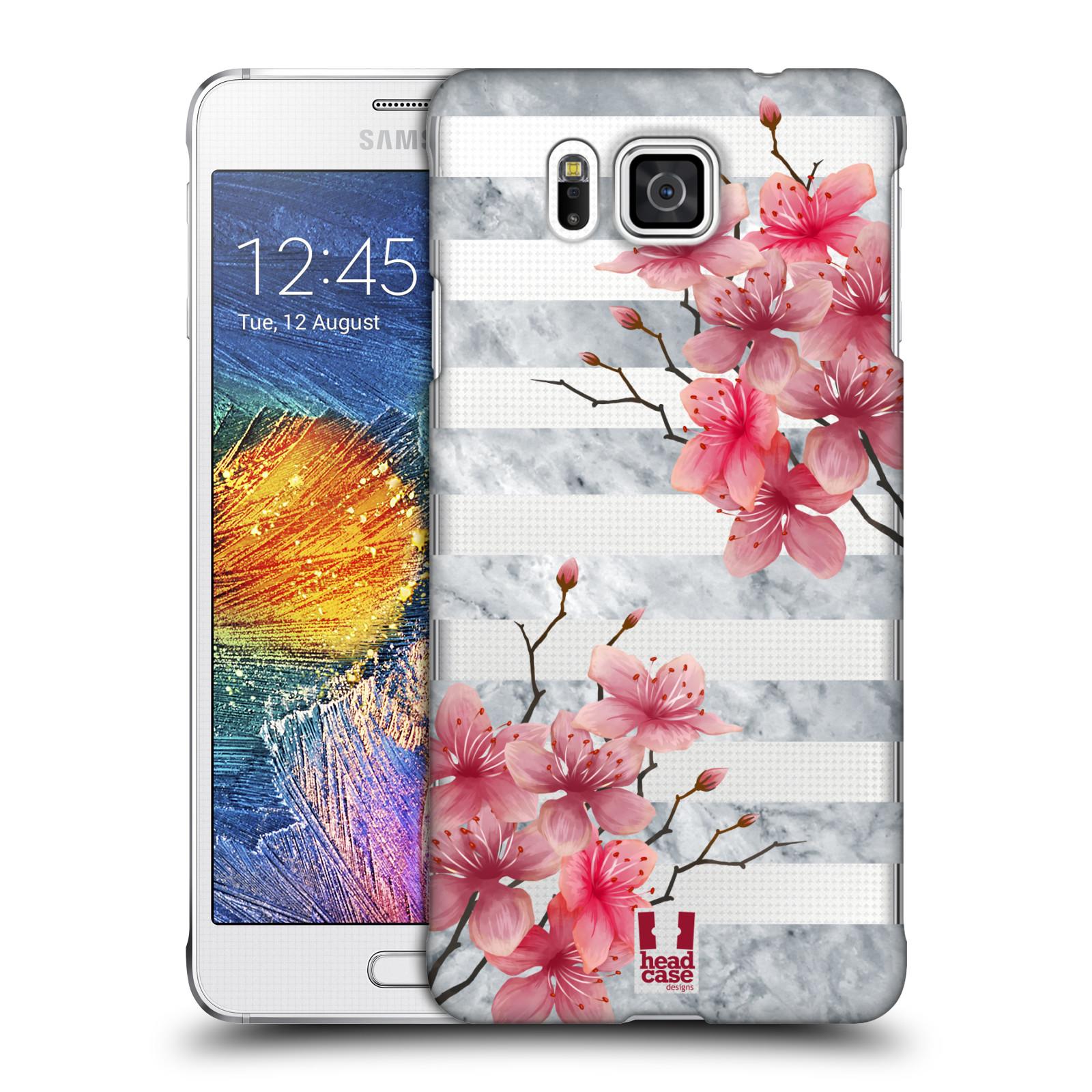 Plastové pouzdro na mobil Samsung Galaxy Alpha - Head Case - Kvítka a mramor