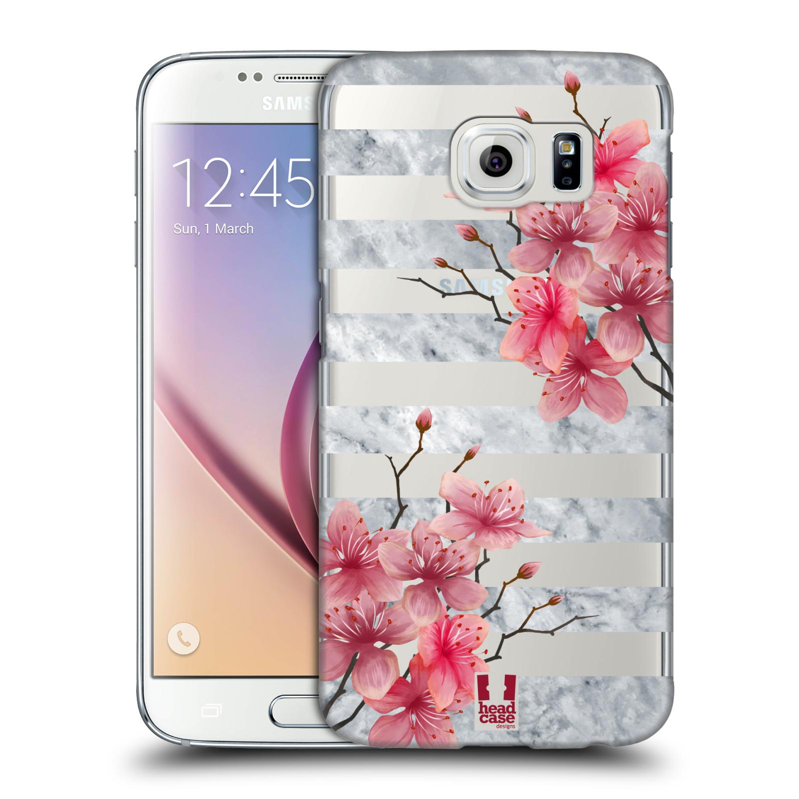 Plastové pouzdro na mobil Samsung Galaxy S6 - Head Case - Kvítka a mramor