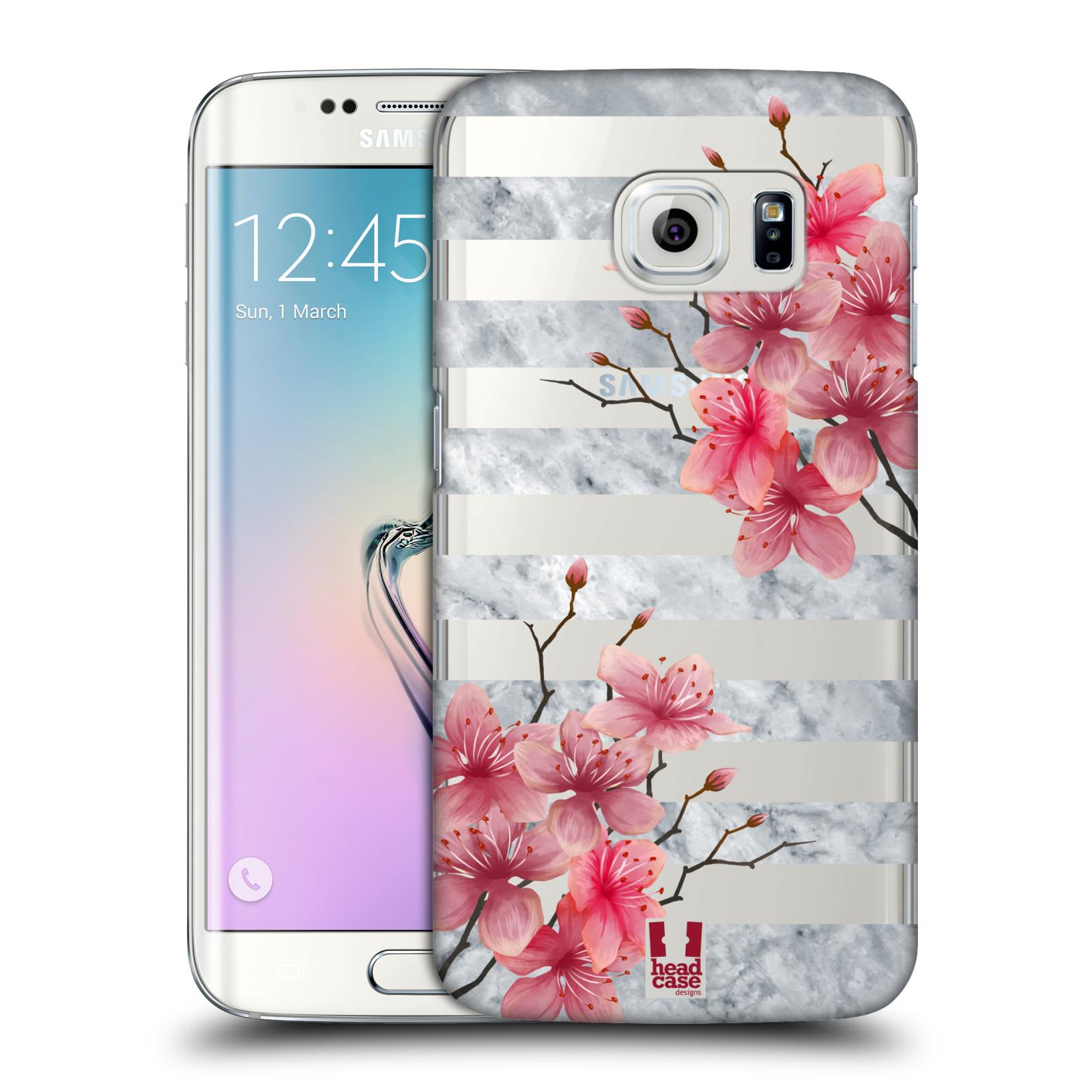 Plastové pouzdro na mobil Samsung Galaxy S6 Edge - Head Case - Kvítka a mramor