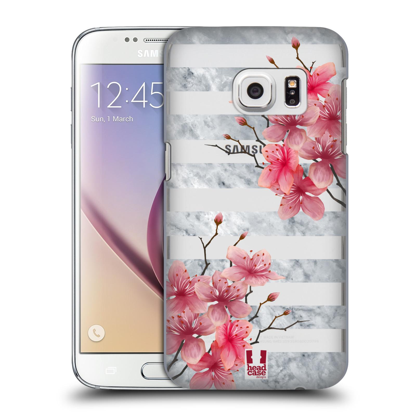 Plastové pouzdro na mobil Samsung Galaxy S7 - Head Case - Kvítka a mramor