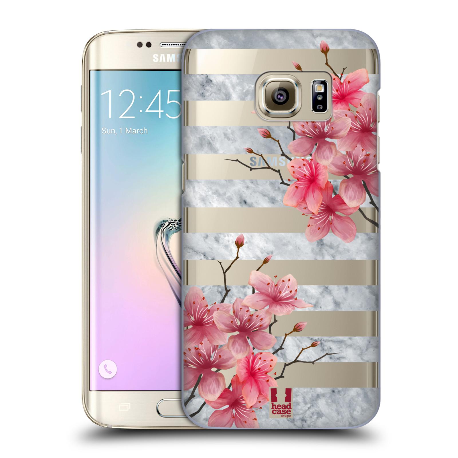 Plastové pouzdro na mobil Samsung Galaxy S7 Edge - Head Case - Kvítka a mramor