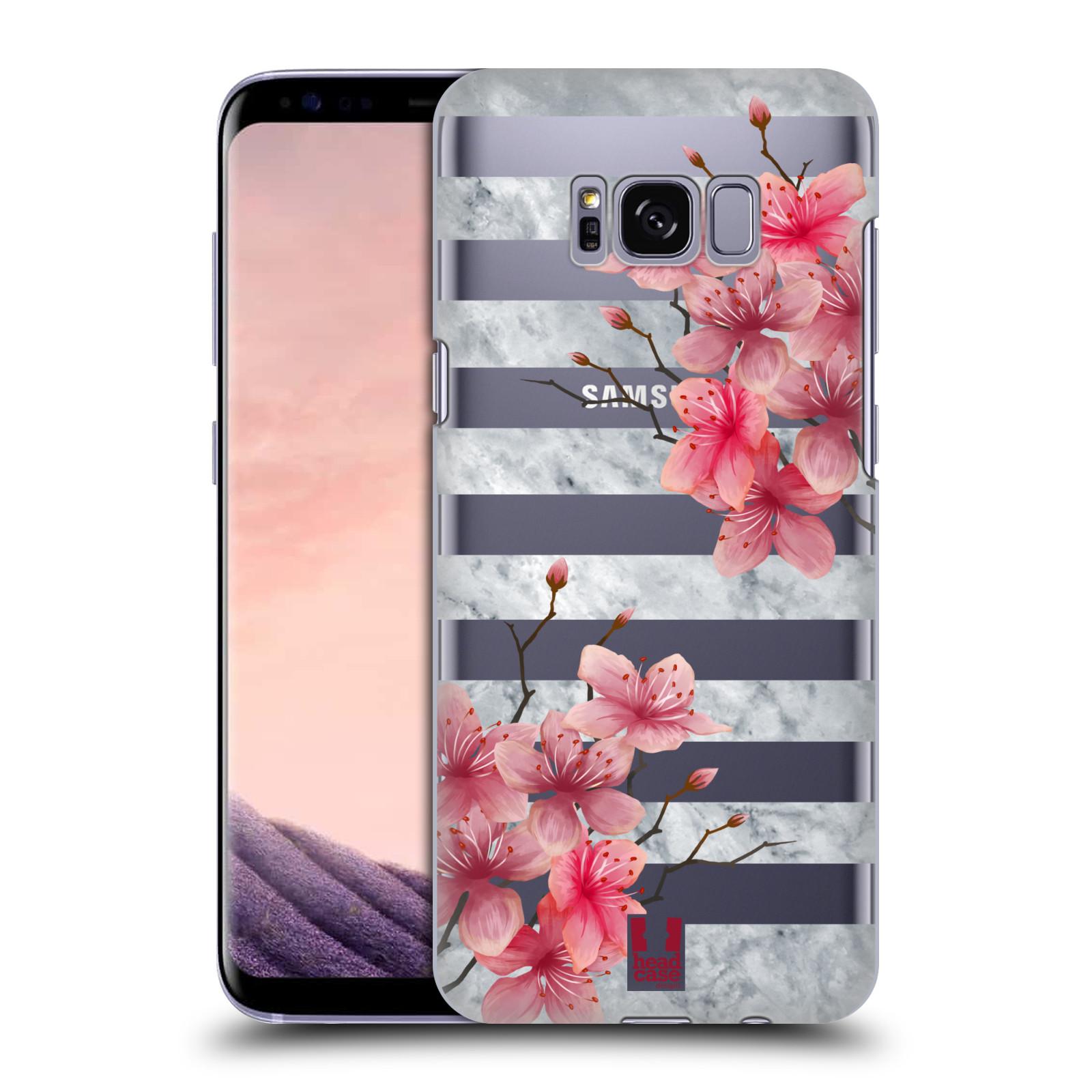 Plastové pouzdro na mobil Samsung Galaxy S8 - Head Case - Kvítka a mramor
