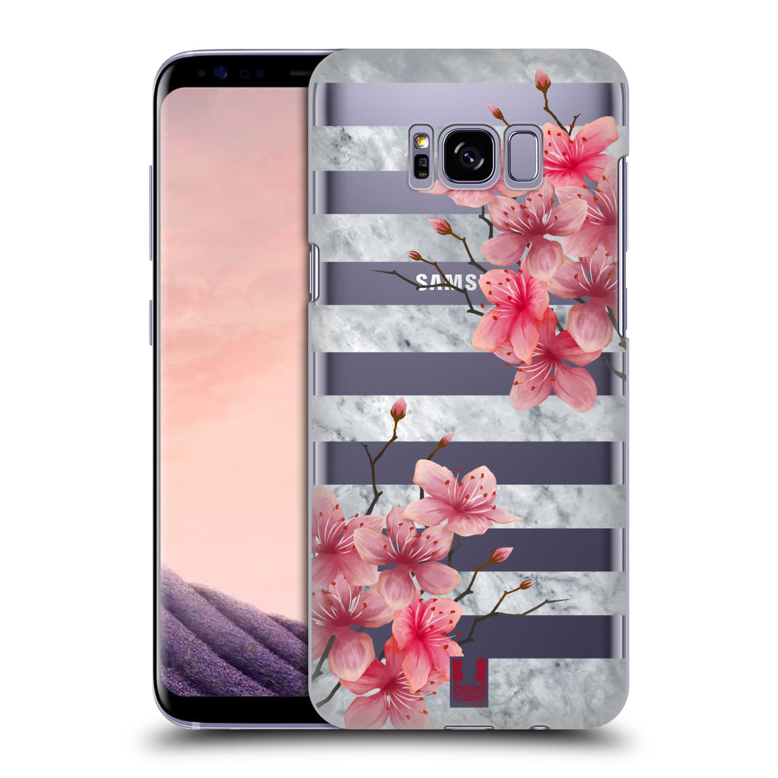 Plastové pouzdro na mobil Samsung Galaxy S8+ (Plus) - Head Case - Kvítka a mramor