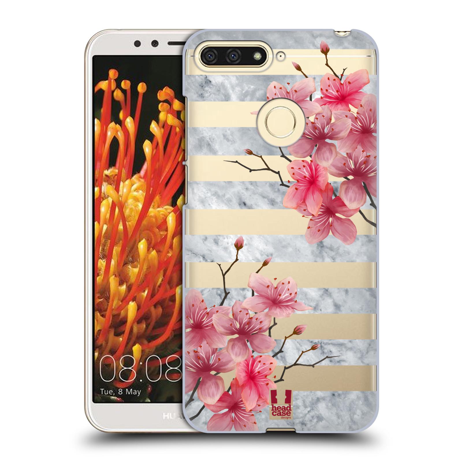 Plastové pouzdro na mobil Honor 7A - Head Case - Kvítka a mramor
