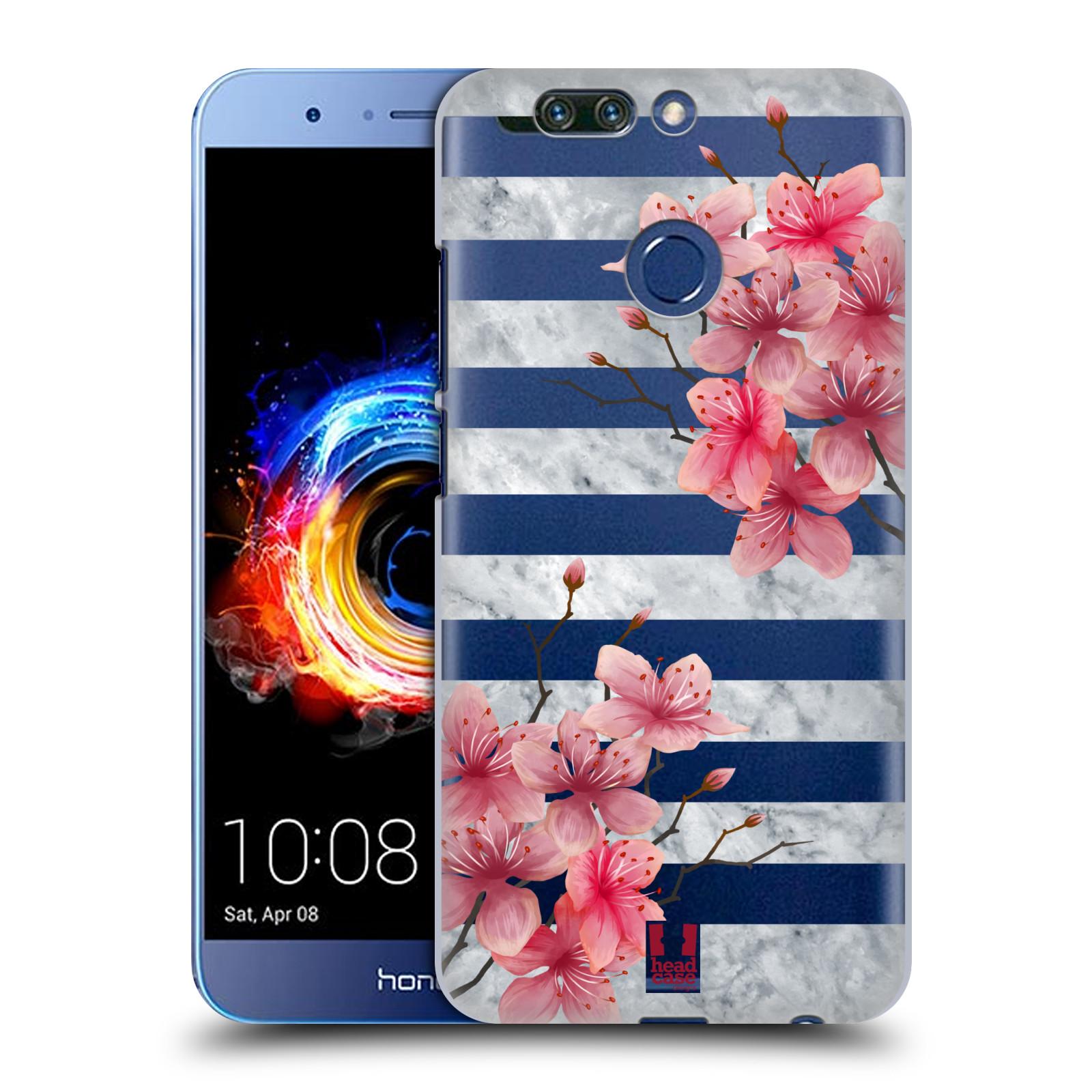 Plastové pouzdro na mobil Honor 8 Pro - Head Case - Kvítka a mramor