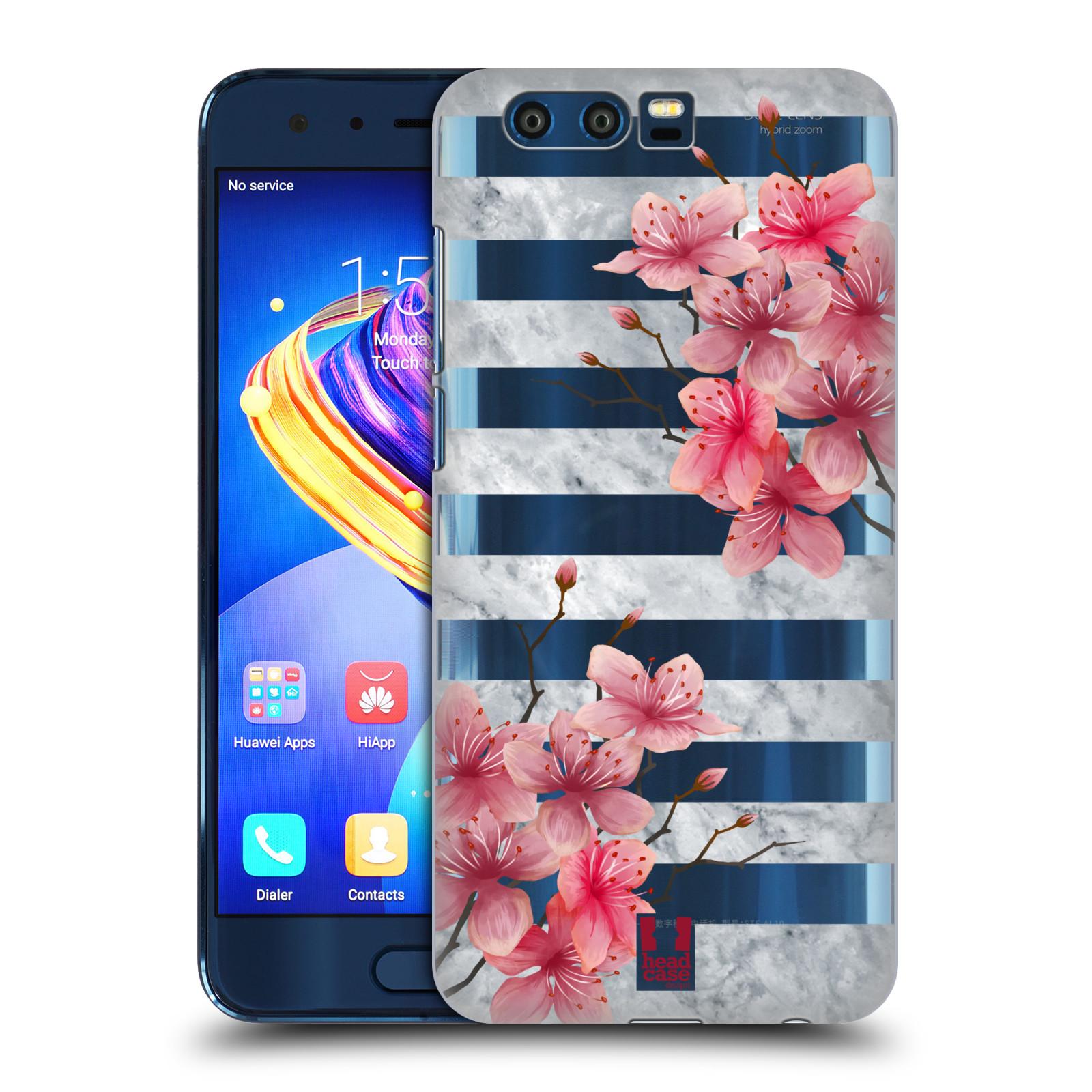 Plastové pouzdro na mobil Honor 9 - Head Case - Kvítka a mramor