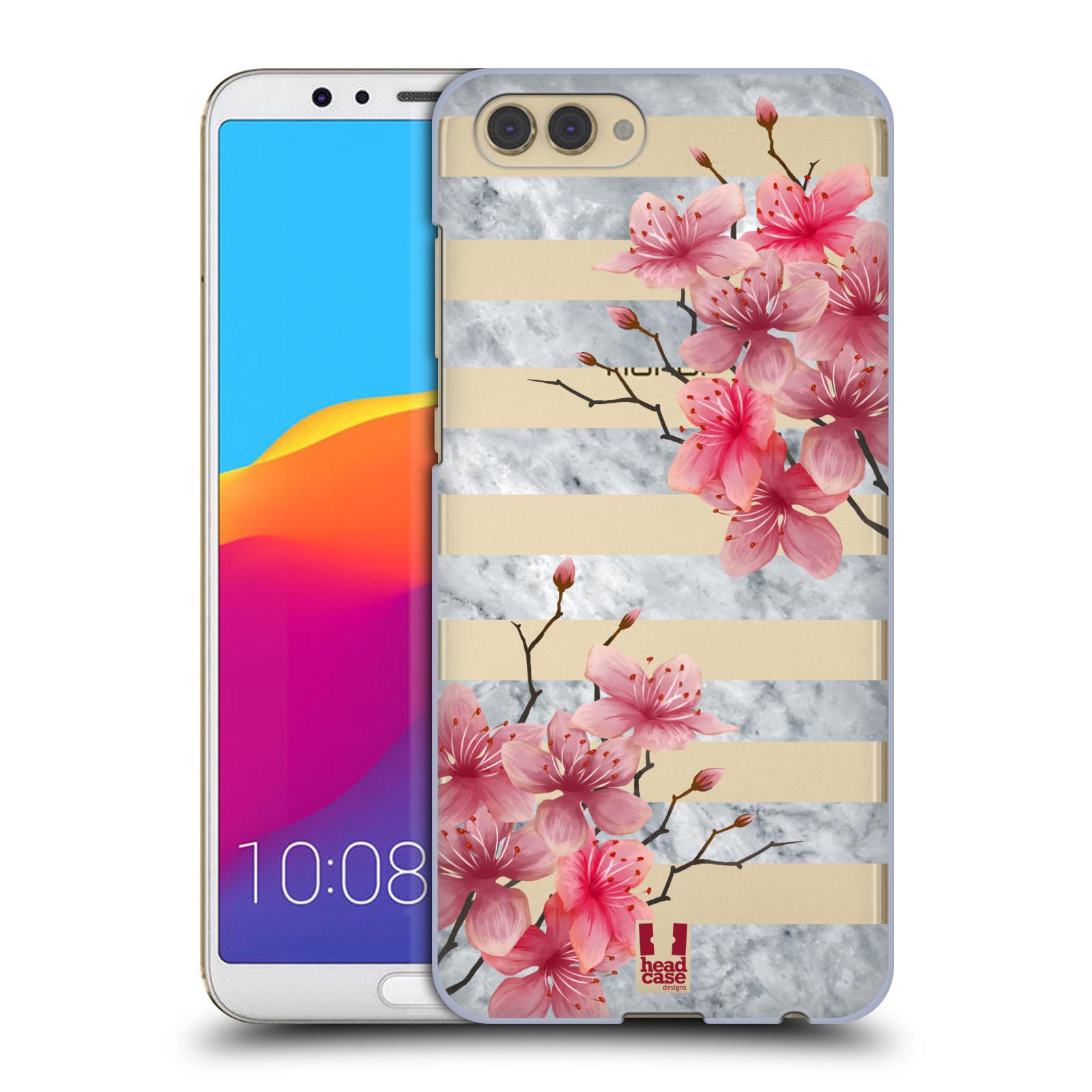 Plastové pouzdro na mobil Honor View 10 - Head Case - Kvítka a mramor