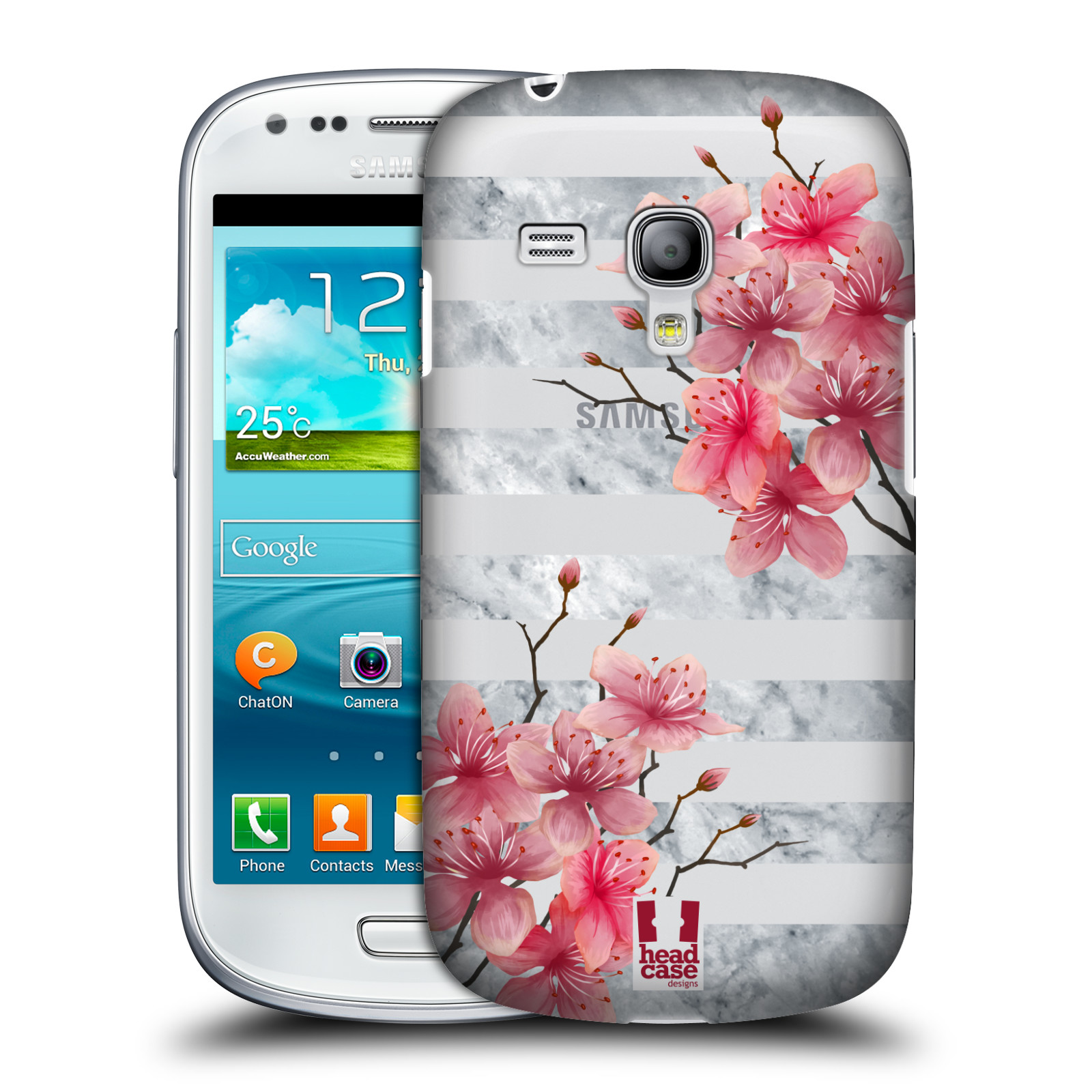Plastové pouzdro na mobil Samsung Galaxy S III Mini - Head Case - Kvítka a mramor