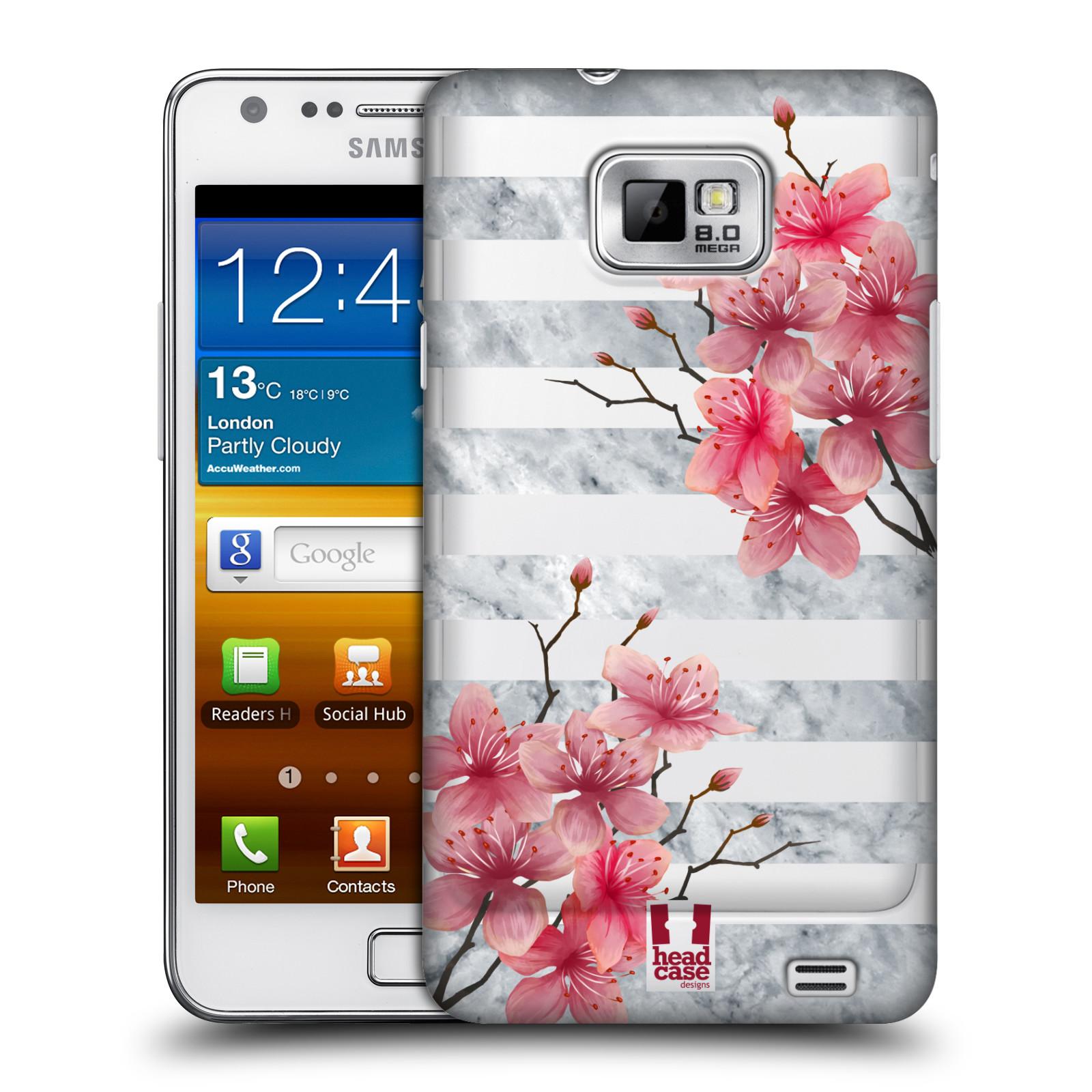 Plastové pouzdro na mobil Samsung Galaxy S II - Head Case - Kvítka a mramor