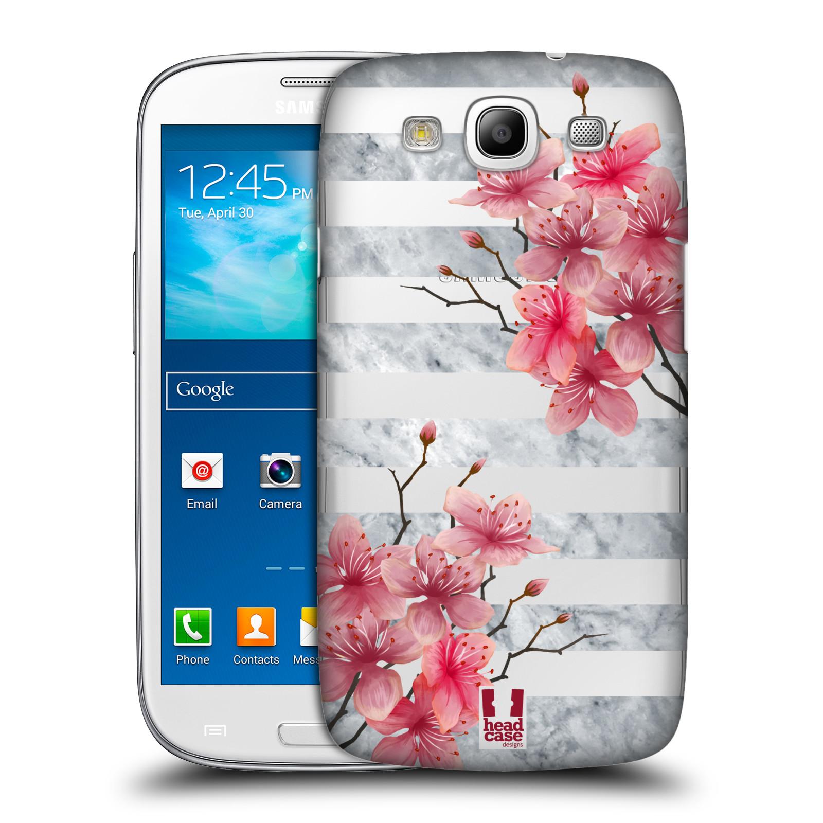 Plastové pouzdro na mobil Samsung Galaxy S3 Neo - Head Case - Kvítka a mramor