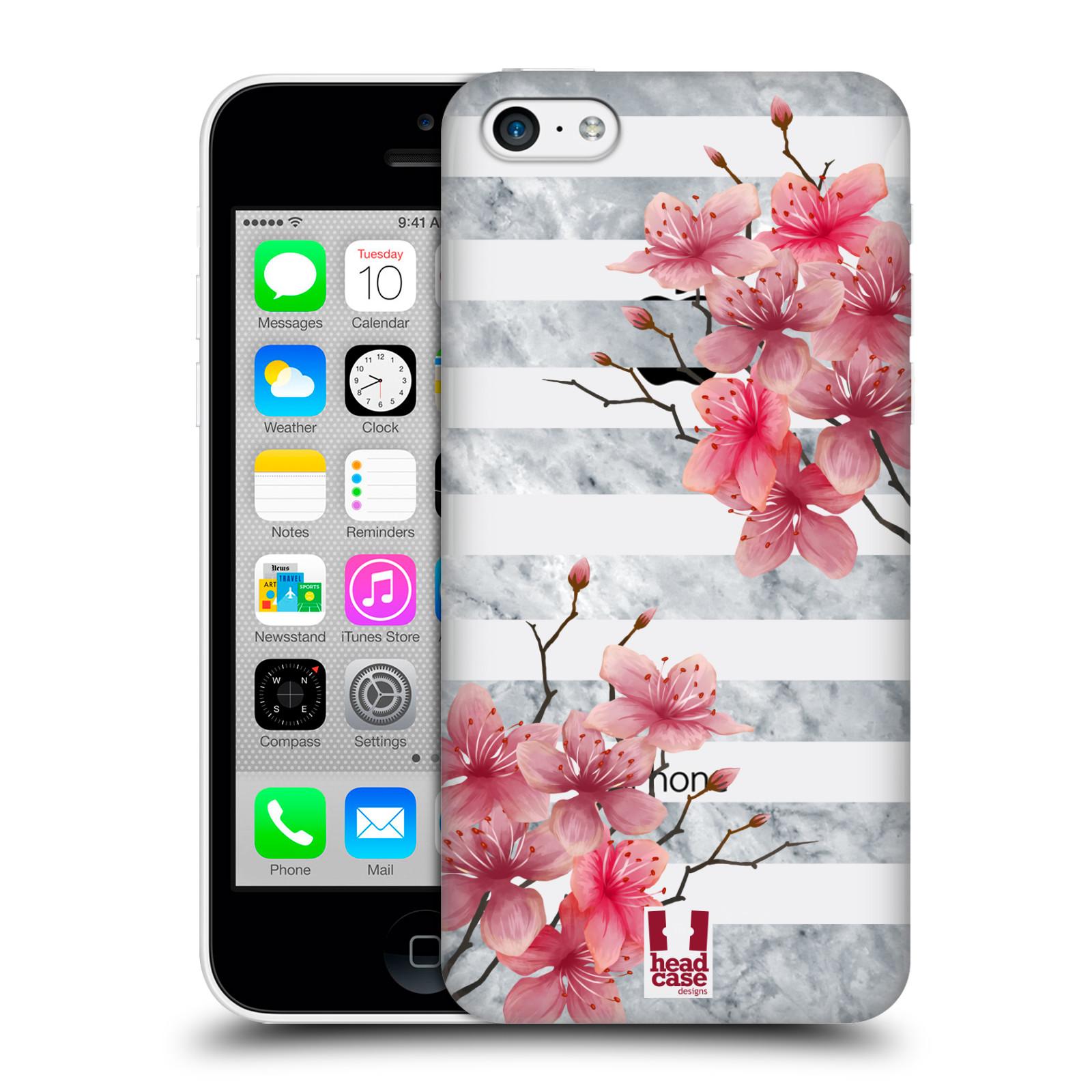 Plastové pouzdro na mobil Apple iPhone 5C - Head Case - Kvítka a mramor