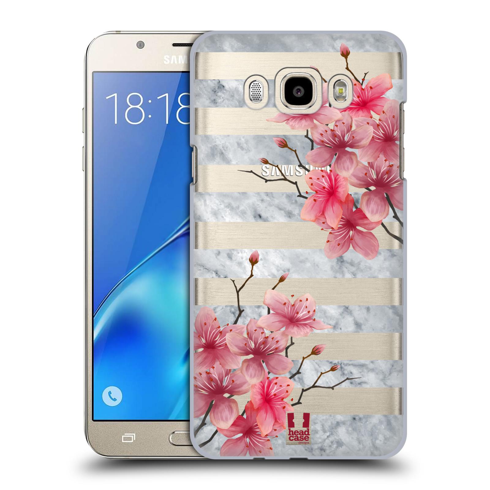 Plastové pouzdro na mobil Samsung Galaxy J7 (2016) - Head Case - Kvítka a mramor