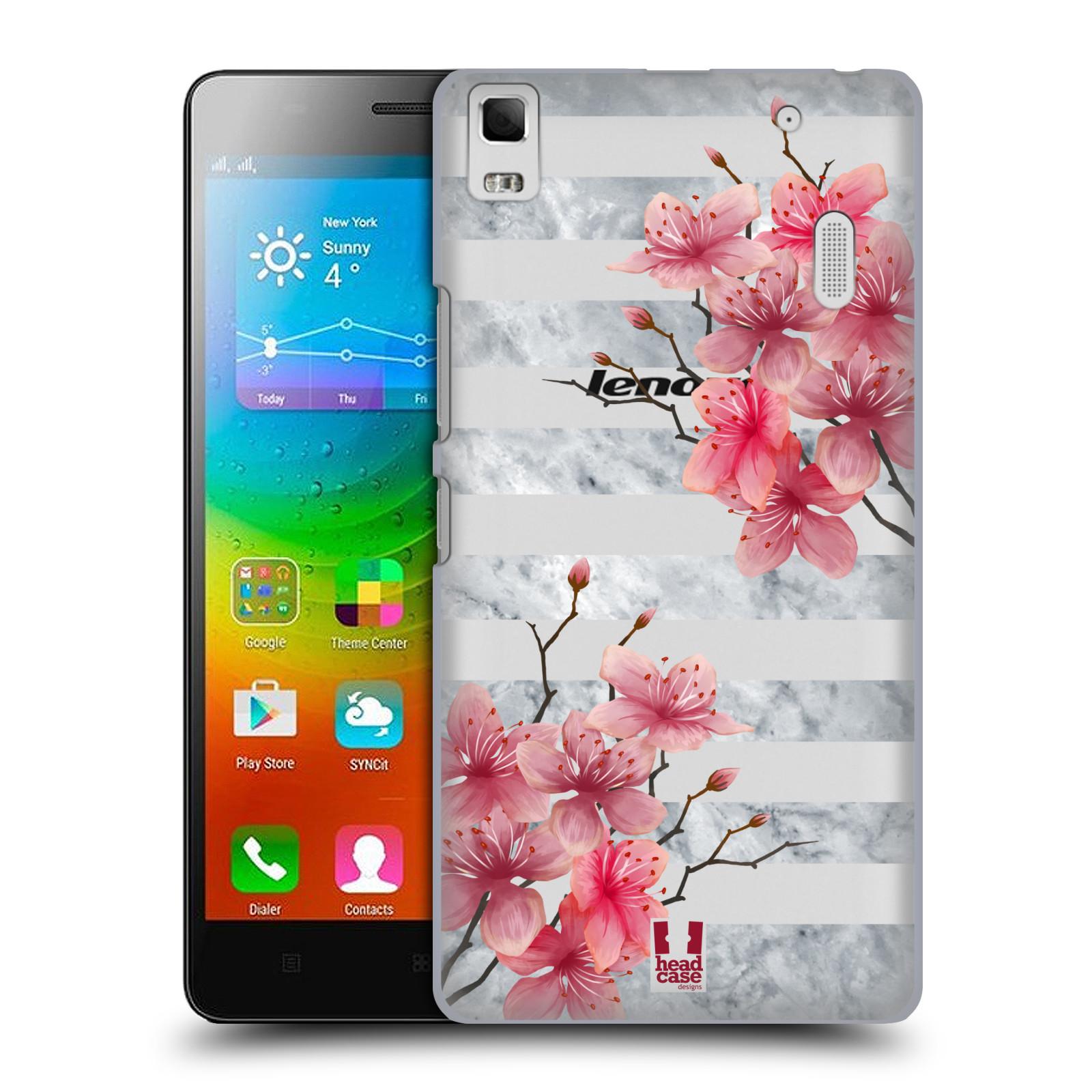 Plastové pouzdro na mobil Lenovo A7000 - Head Case - Kvítka a mramor