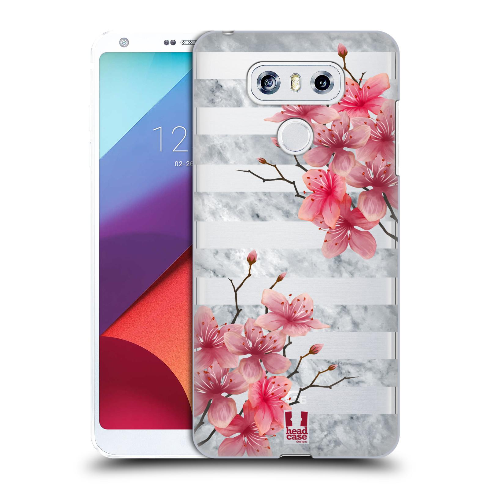 Plastové pouzdro na mobil LG G6 - Head Case - Kvítka a mramor