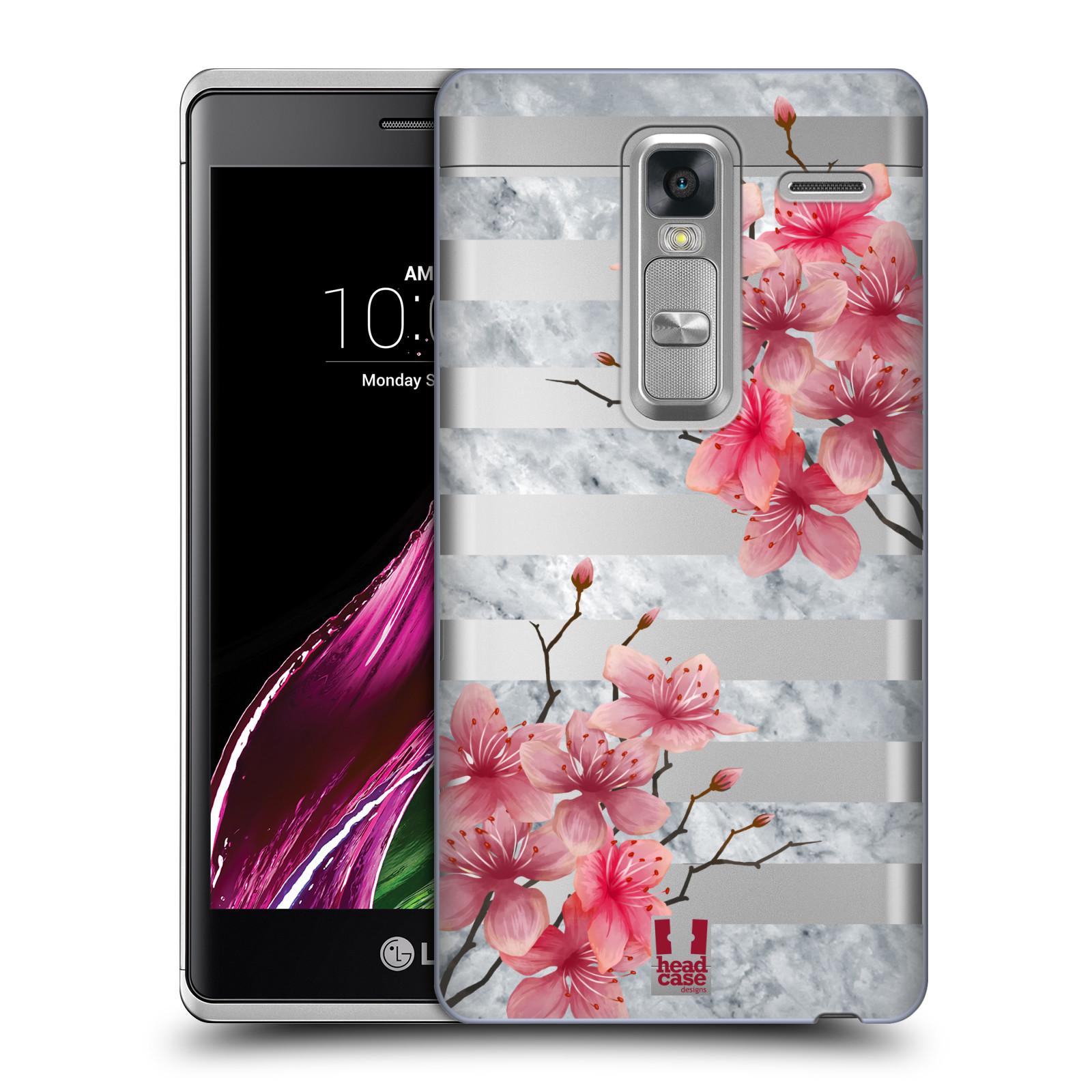 Plastové pouzdro na mobil LG Zero - Head Case - Kvítka a mramor