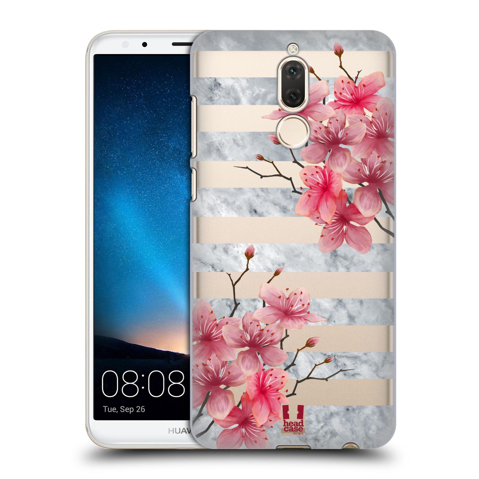 Plastové pouzdro na mobil Huawei Mate 10 Lite - Head Case - Kvítka a mramor