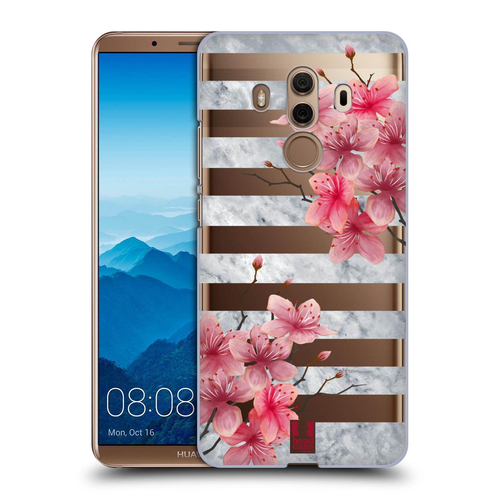 Plastové pouzdro na mobil Huawei Mate 10 Pro - Head Case - Kvítka a mramor