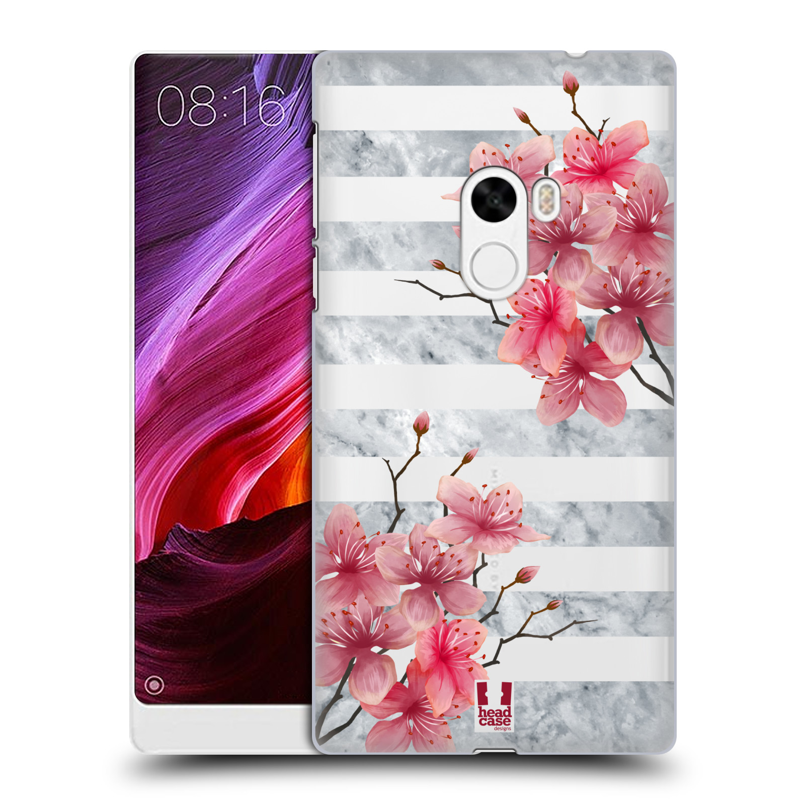 Plastové pouzdro na mobil Xiaomi Mi Mix - Head Case - Kvítka a mramor