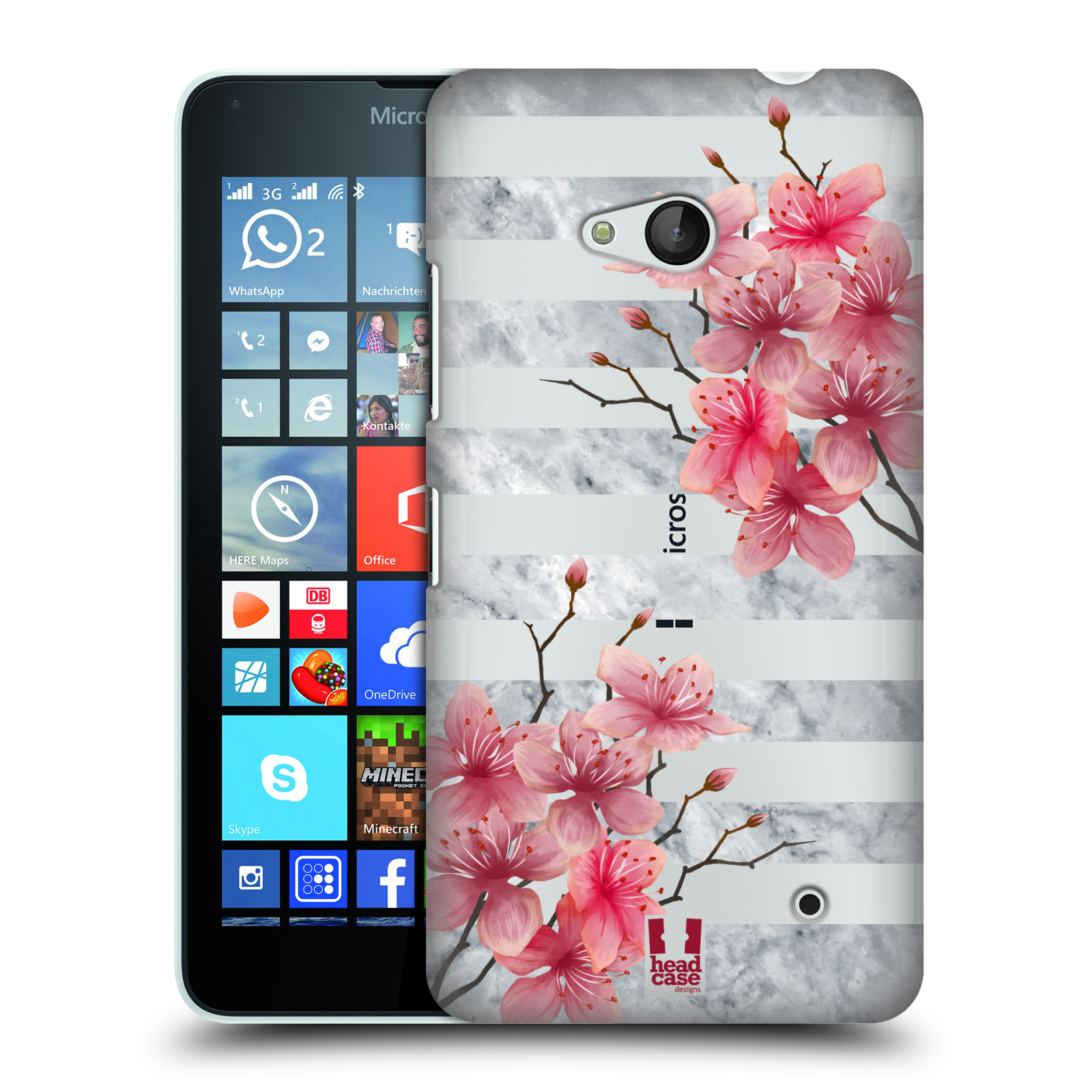 Plastové pouzdro na mobil Microsoft Lumia 640 - Head Case - Kvítka a mramor