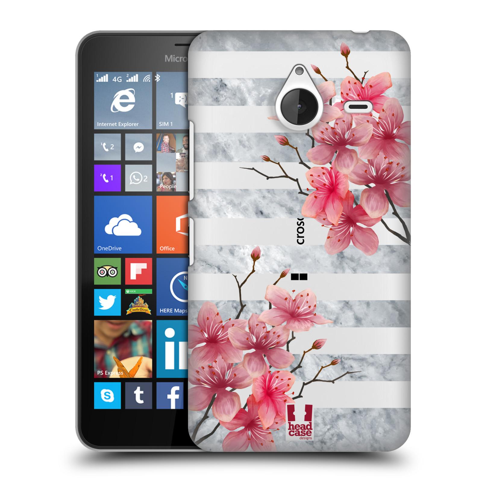 Plastové pouzdro na mobil Microsoft Lumia 640 XL - Head Case - Kvítka a mramor