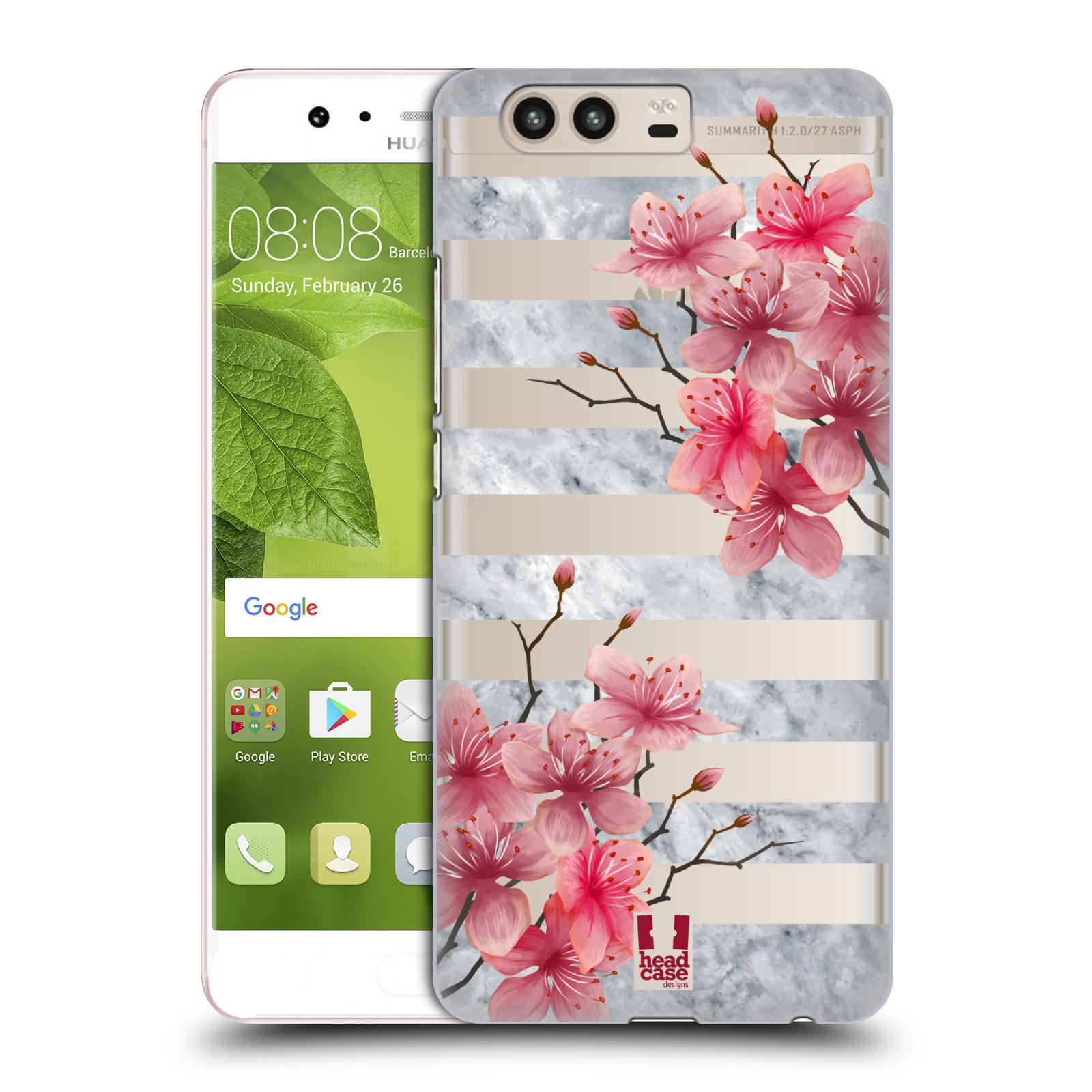 Plastové pouzdro na mobil Huawei P10 - Head Case - Kvítka a mramor
