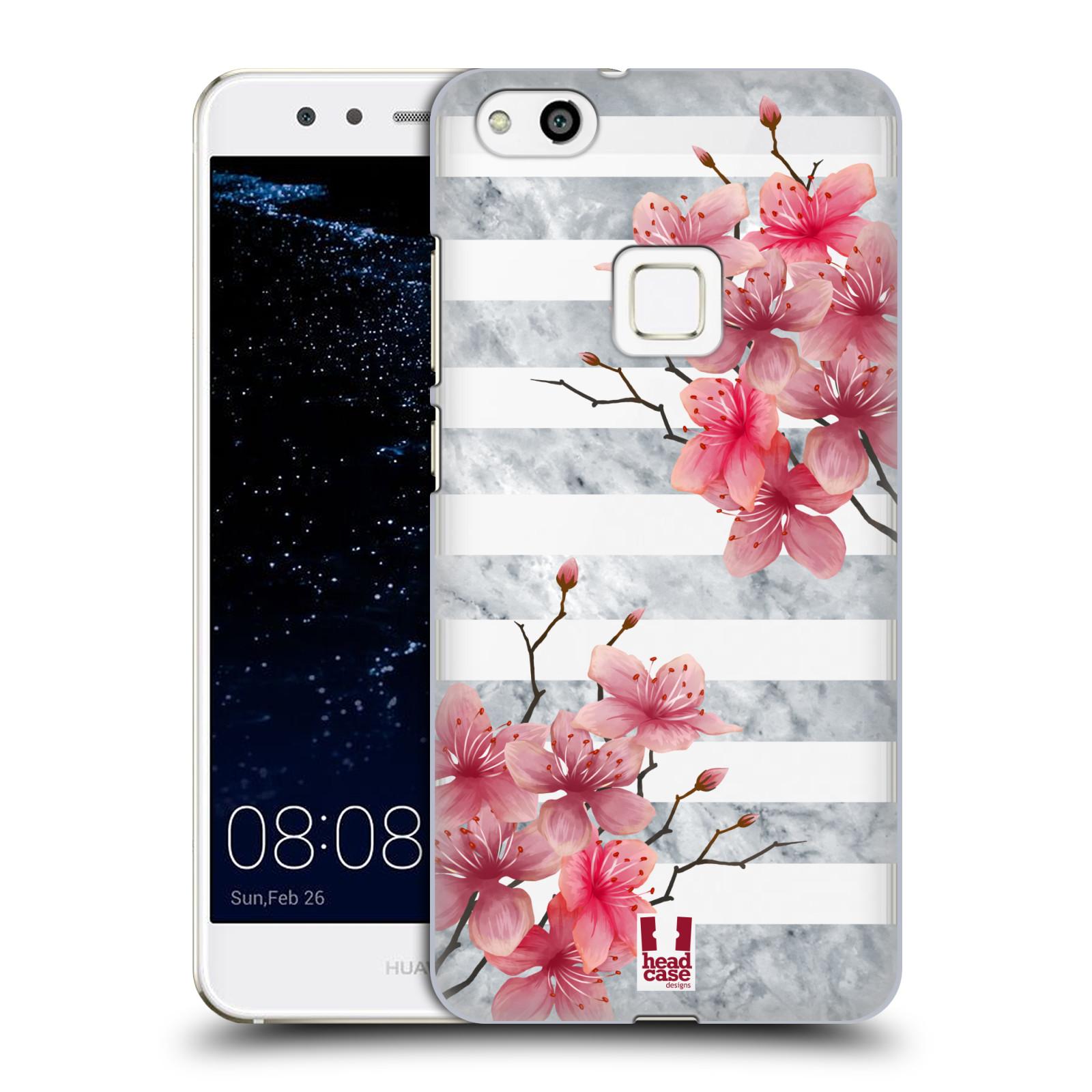 Plastové pouzdro na mobil Huawei P10 Lite Head Case - Kvítka a mramor