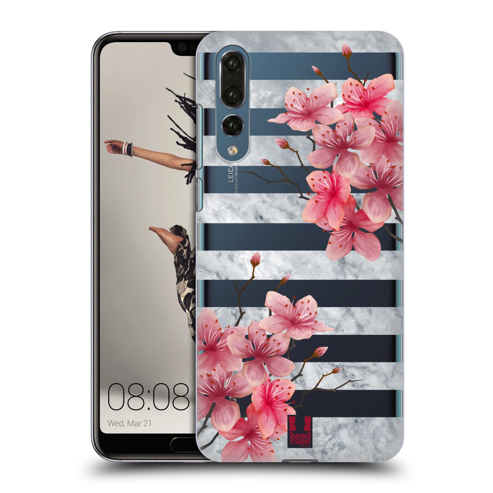 Plastové pouzdro na mobil Huawei P20 Pro - Head Case - Kvítka a mramor