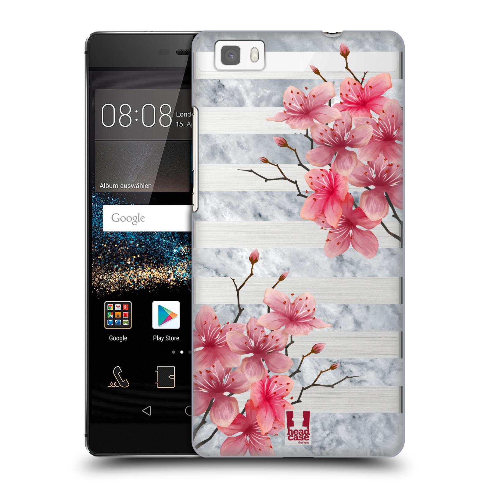 Plastové pouzdro na mobil Huawei P8 Lite - Head Case - Kvítka a mramor