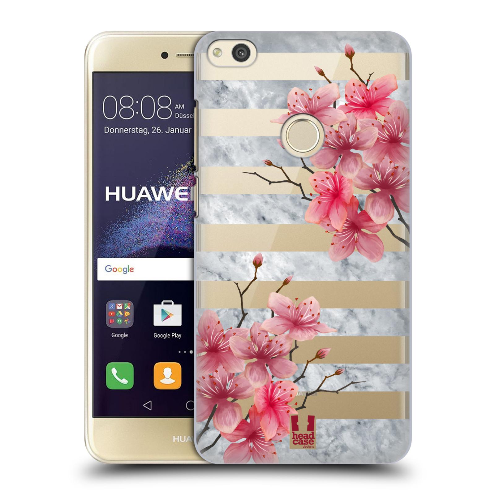 Plastové pouzdro na mobil Huawei P9 Lite (2017) - Head Case - Kvítka a mramor