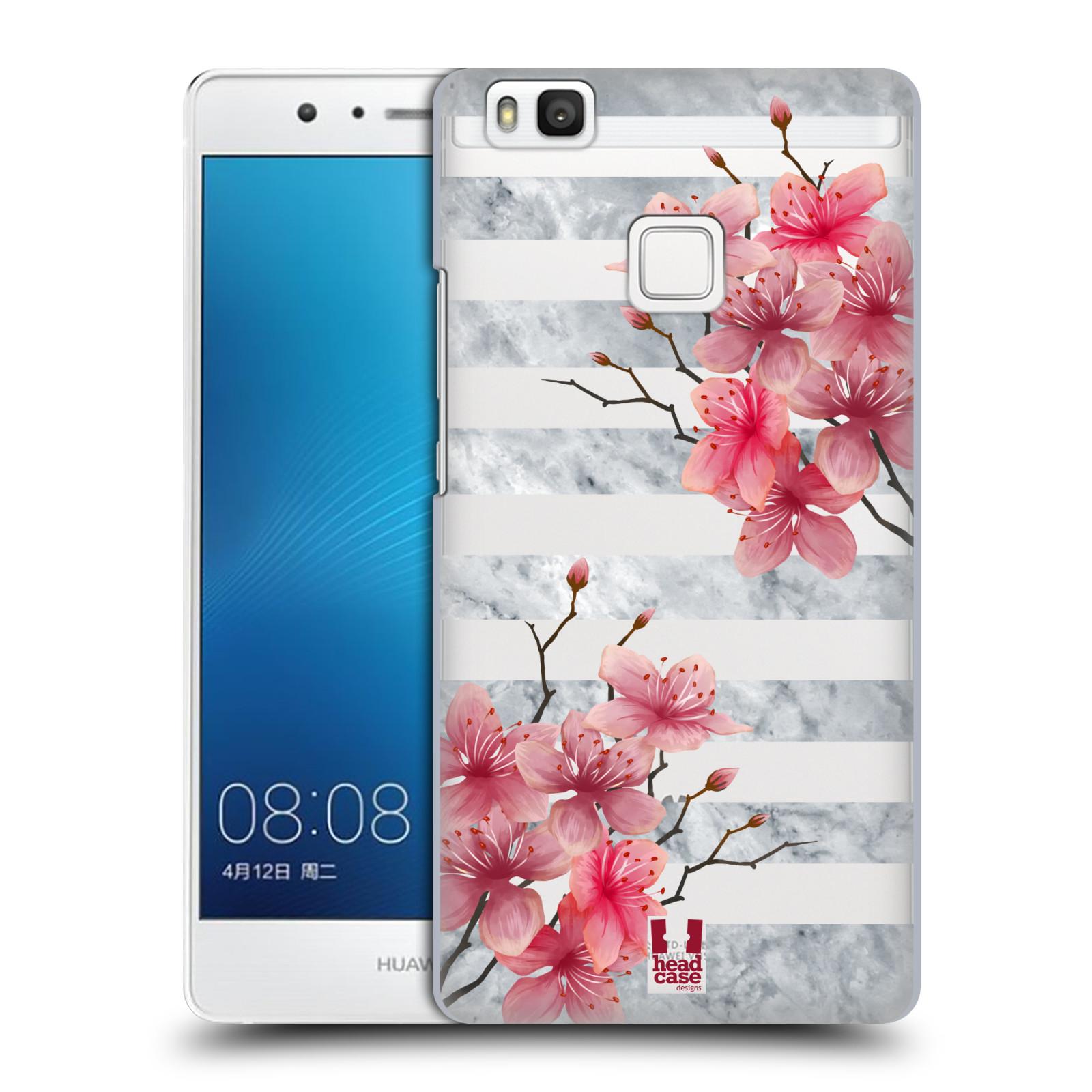 Plastové pouzdro na mobil Huawei P9 Lite - Head Case - Kvítka a mramor