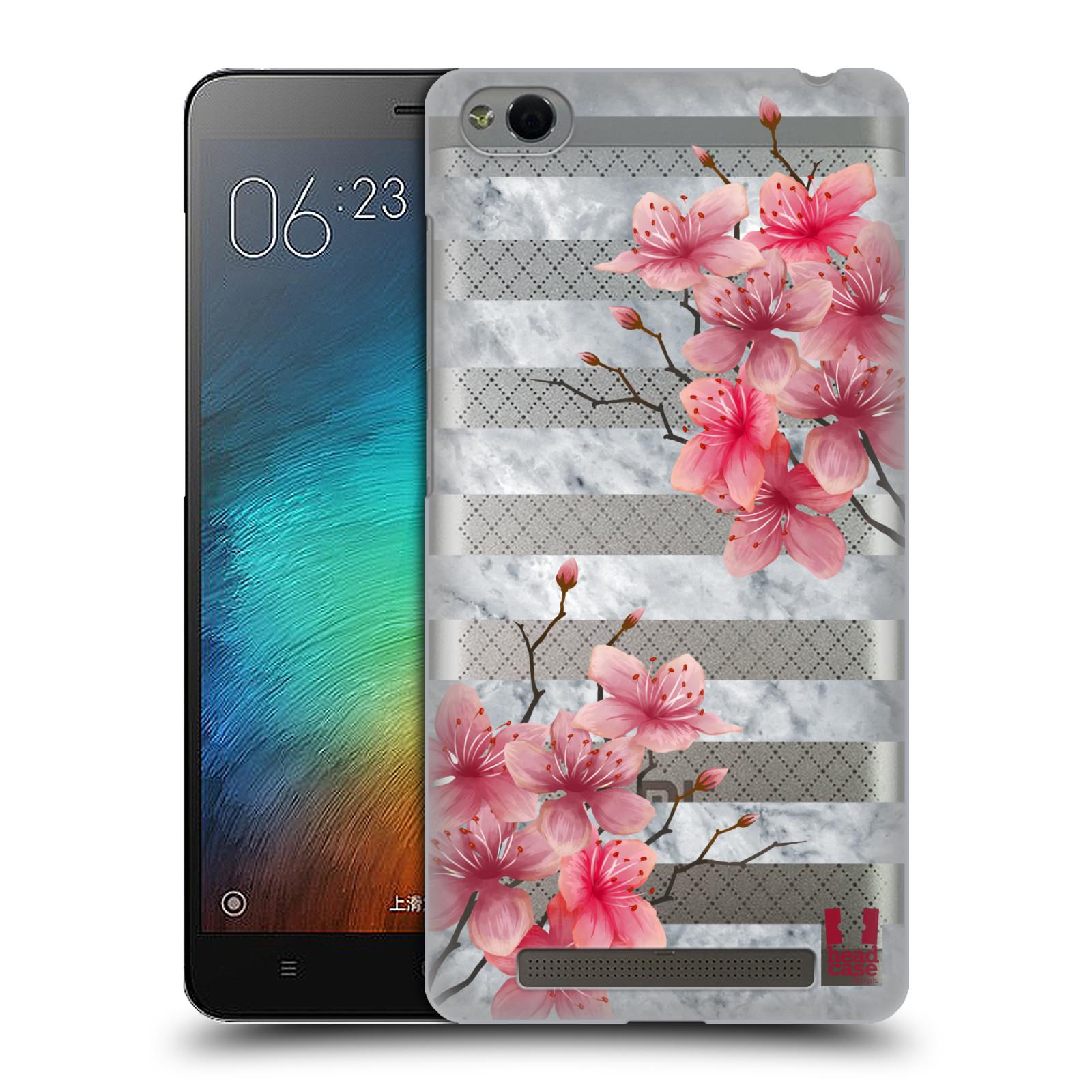Plastové pouzdro na mobil Xiaomi Redmi 3 - Head Case - Kvítka a mramor