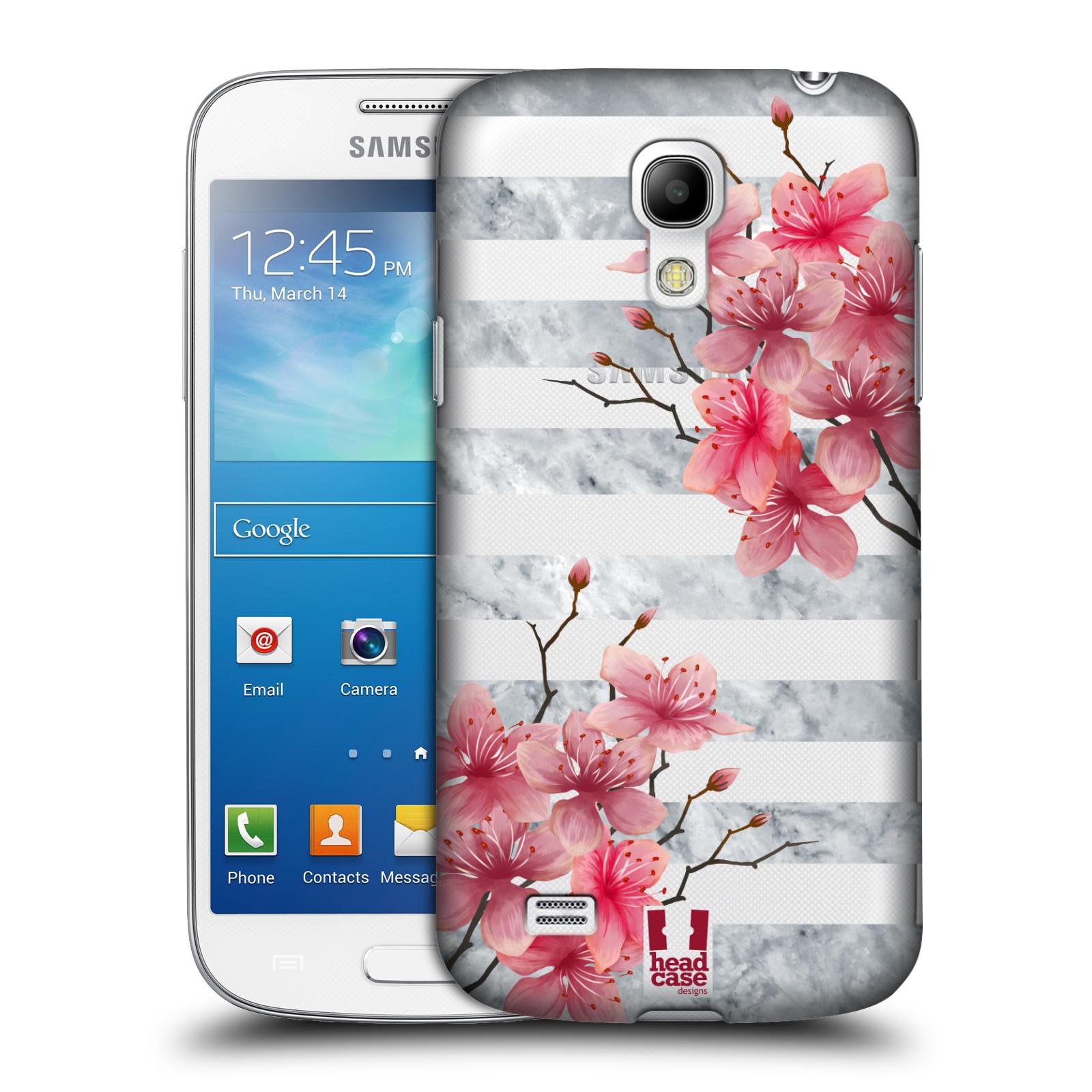 Plastové pouzdro na mobil Samsung Galaxy S4 Mini - Head Case - Kvítka a mramor
