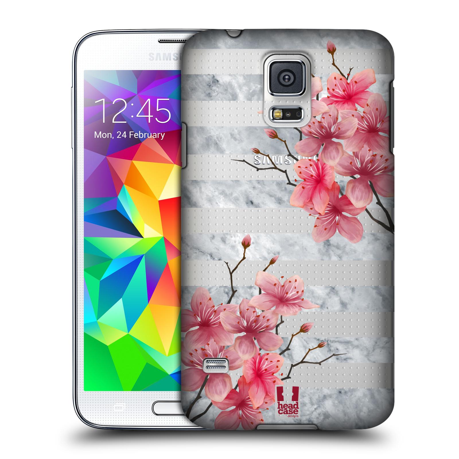 Plastové pouzdro na mobil Samsung Galaxy S5 - Head Case - Kvítka a mramor