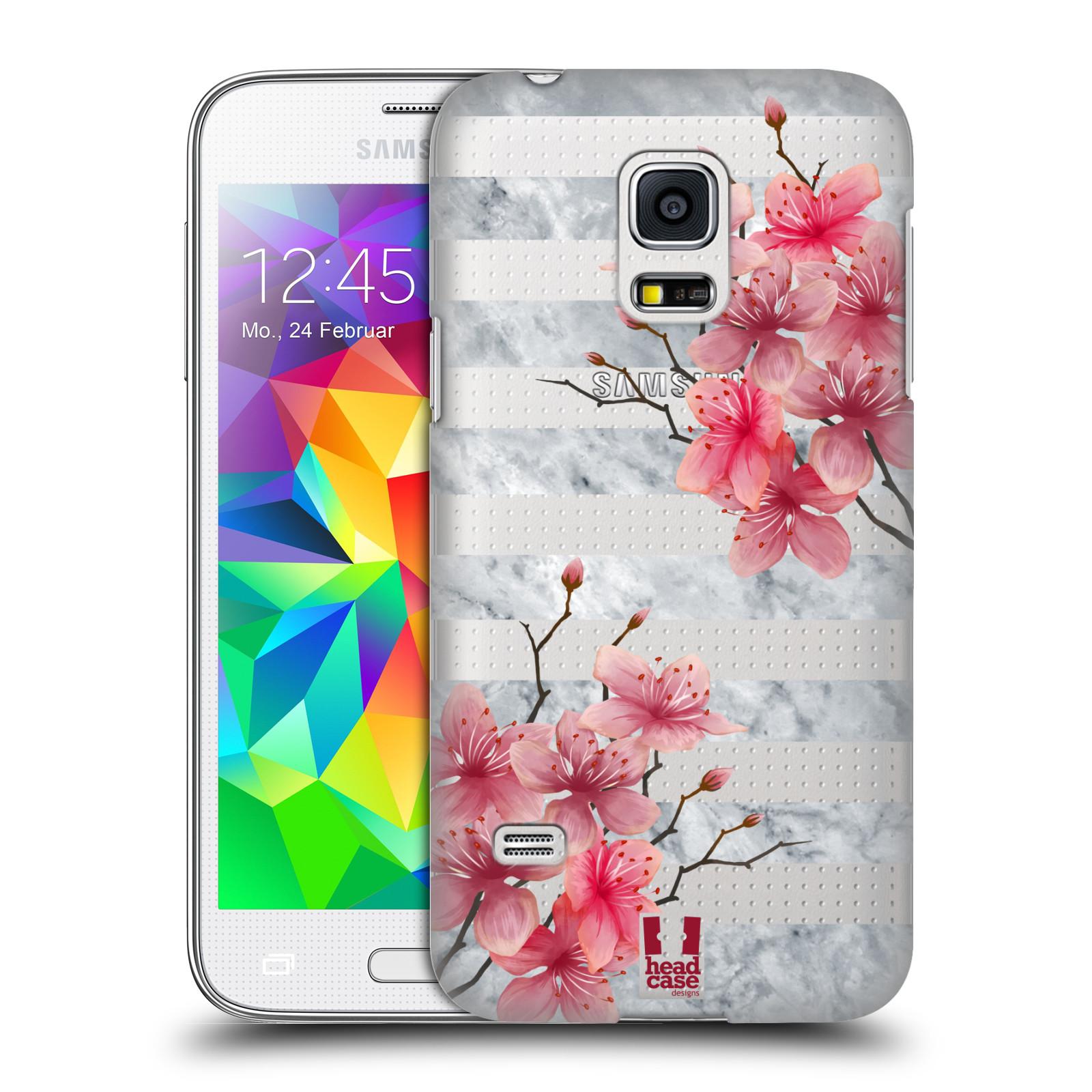 Plastové pouzdro na mobil Samsung Galaxy S5 Mini - Head Case - Kvítka a mramor