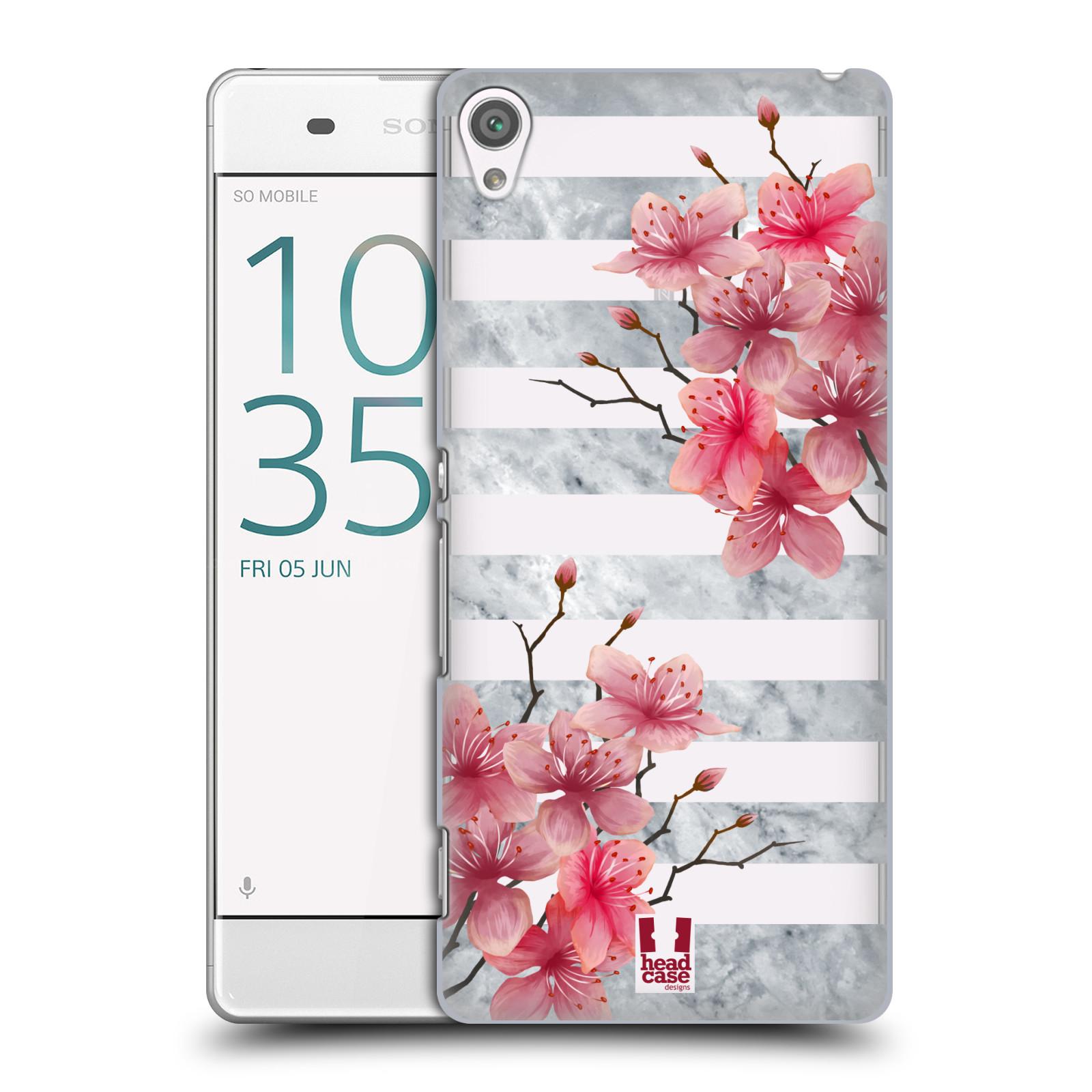 Plastové pouzdro na mobil Sony Xperia XA - Head Case - Kvítka a mramor