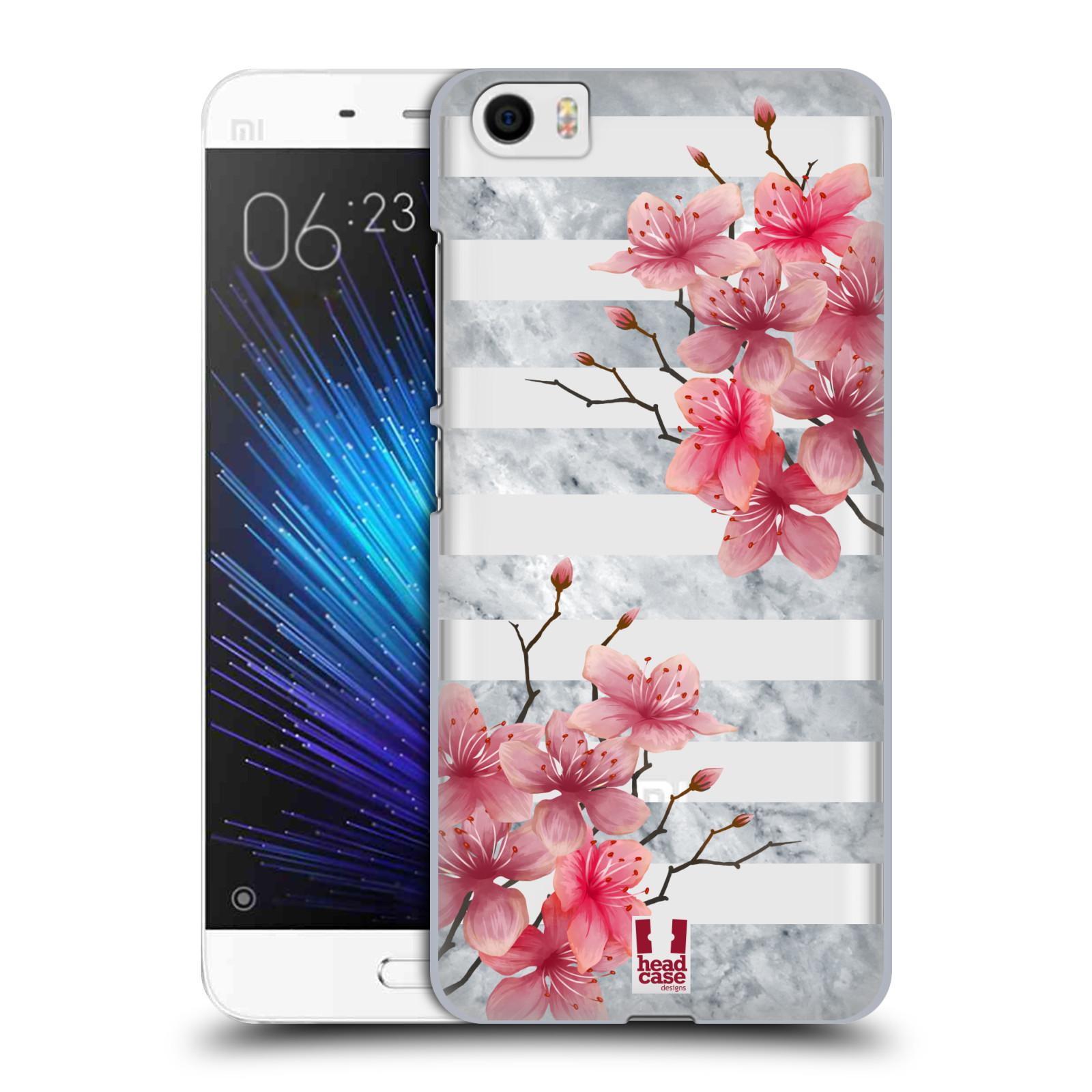 Plastové pouzdro na mobil Xiaomi Mi5 - Head Case - Kvítka a mramor