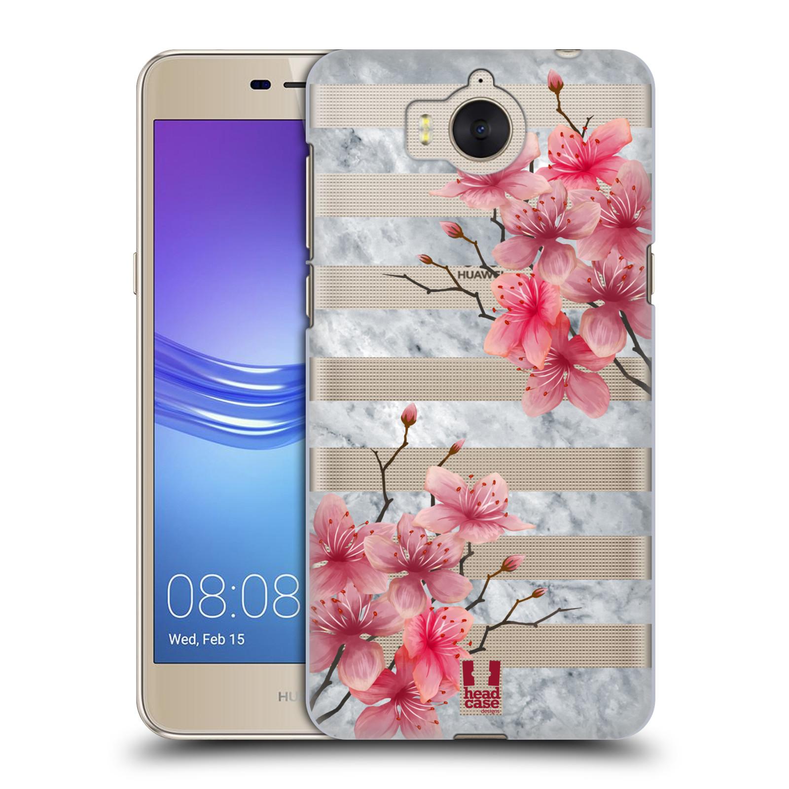 Plastové pouzdro na mobil Huawei Y6 2017 - Head Case - Kvítka a mramor
