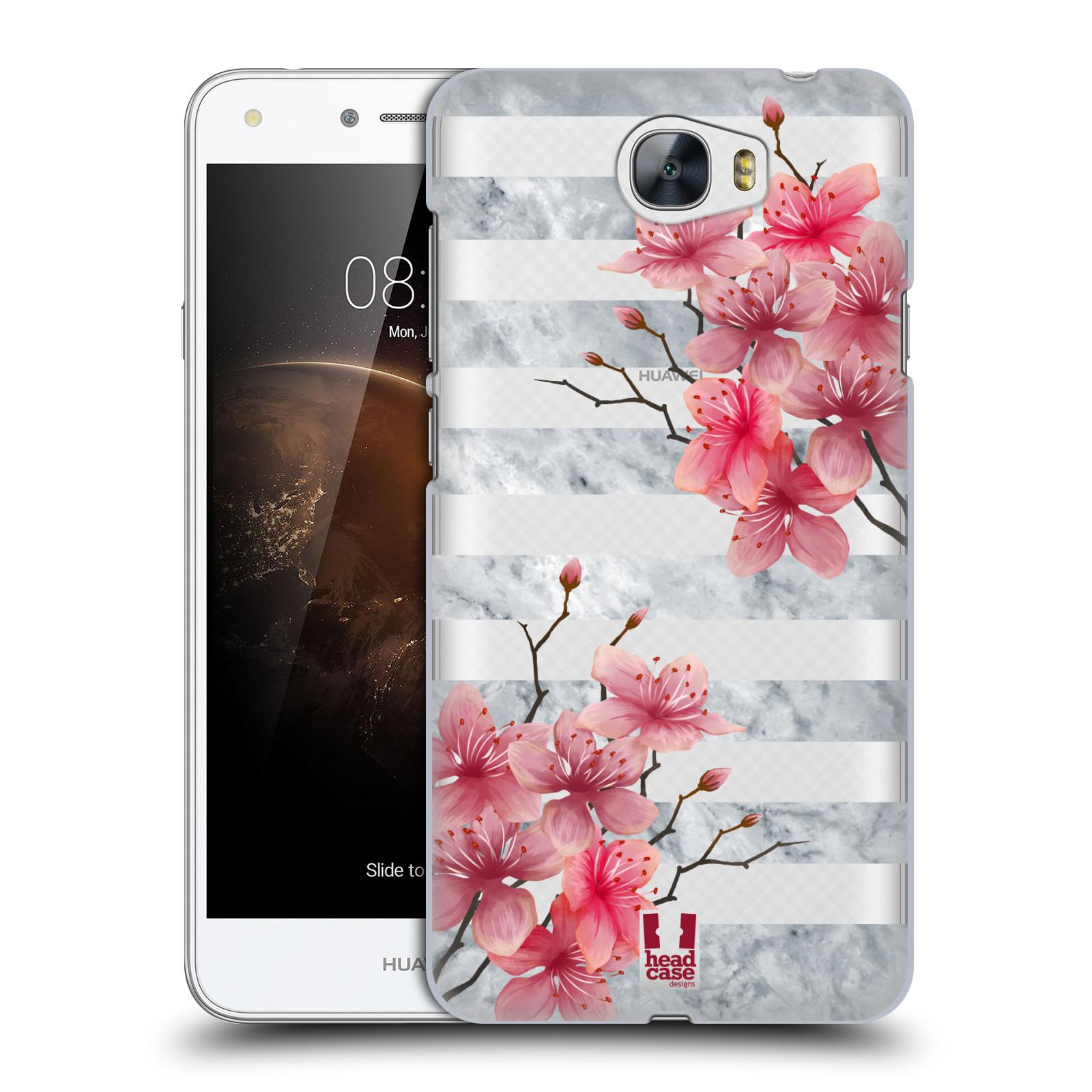 Plastové pouzdro na mobil Huawei Y5 II - Head Case - Kvítka a mramor