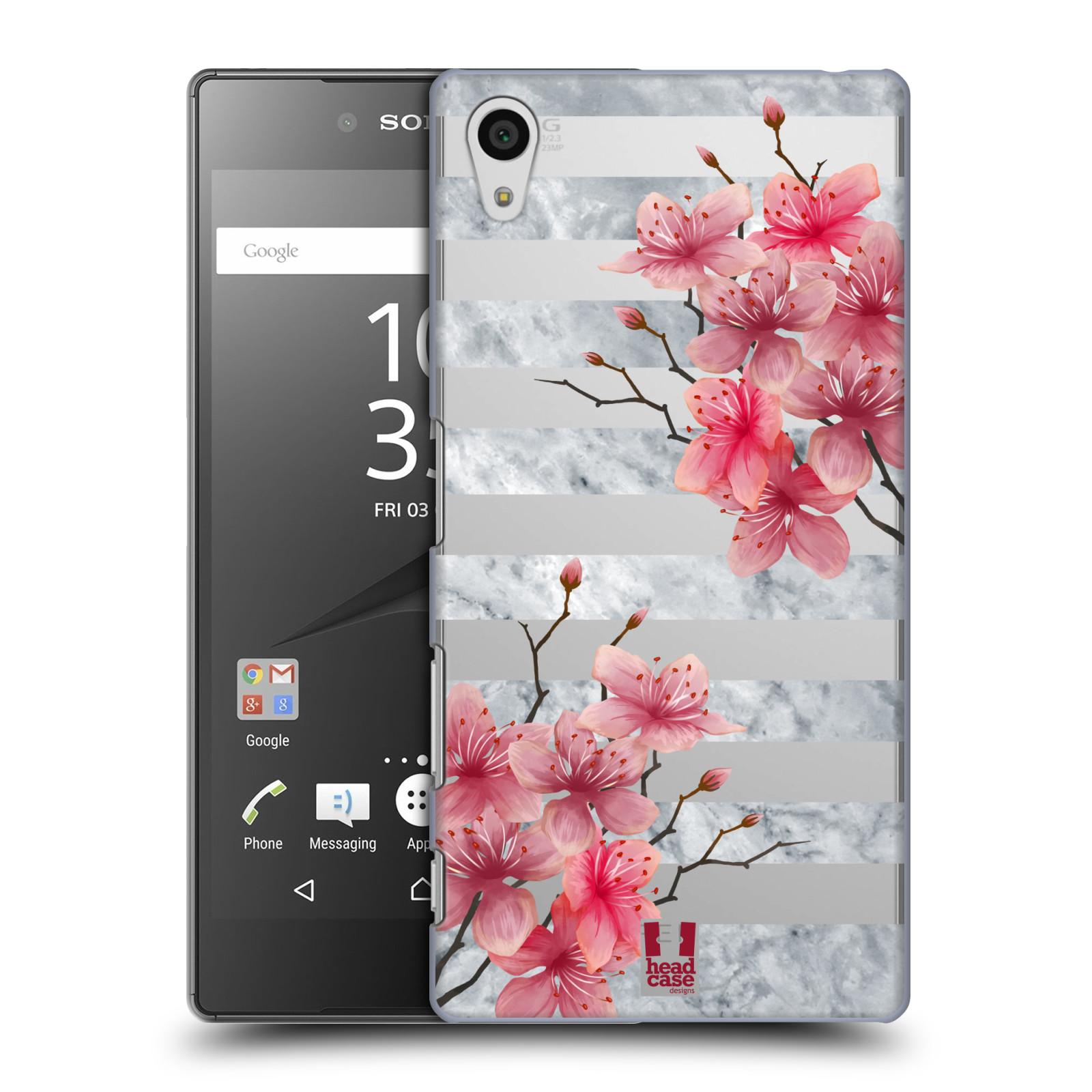 Plastové pouzdro na mobil Sony Xperia Z5 - Head Case - Kvítka a mramor