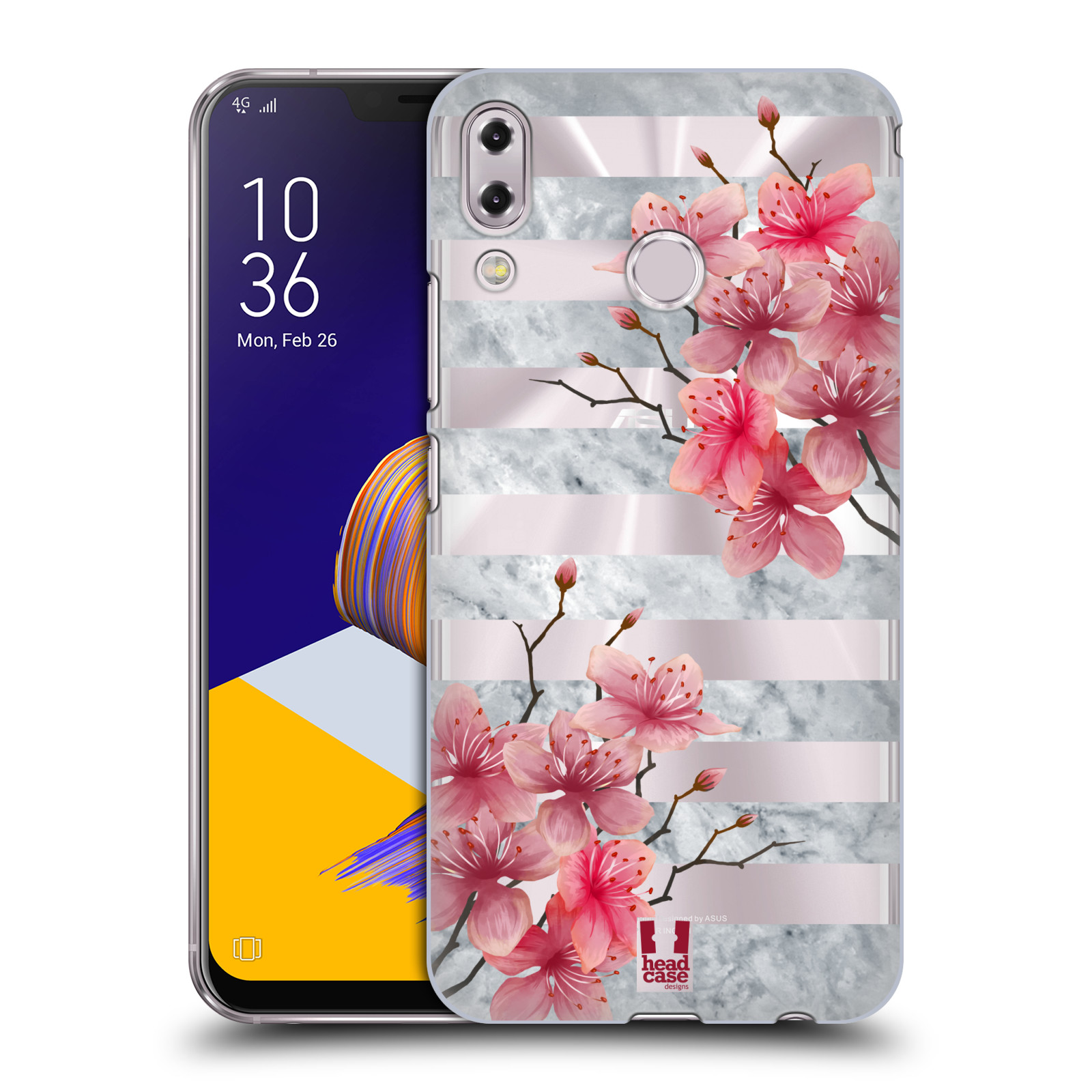 Plastové pouzdro na mobil Asus Zenfone 5z ZS620KL - Head Case - Kvítka a mramor