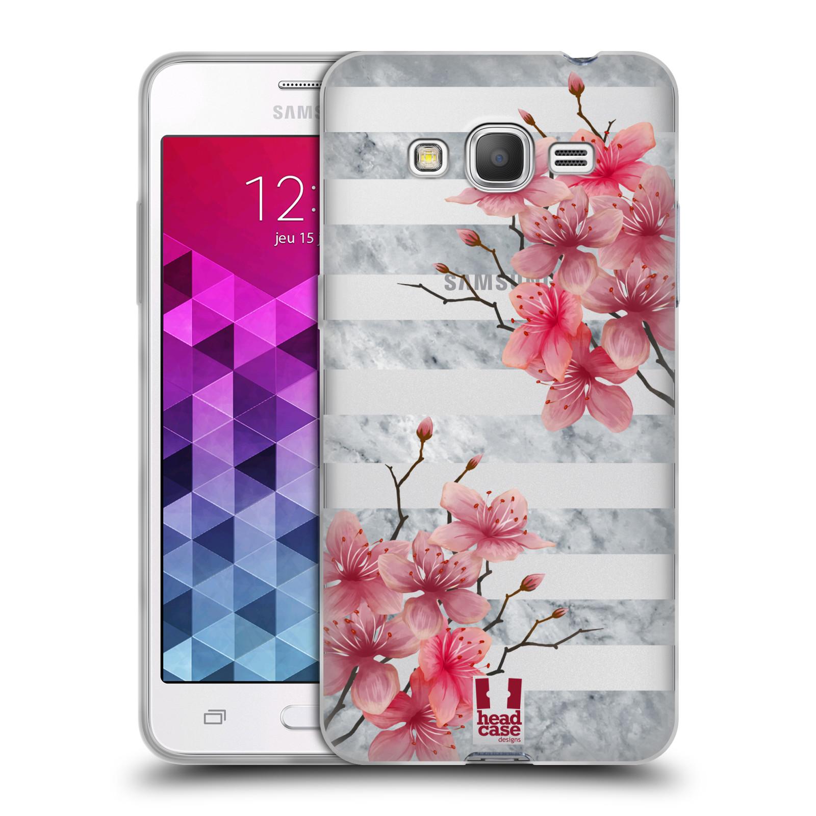 Silikonové pouzdro na mobil Samsung Galaxy Grand Prime - Head Case - Kvítka a mramor