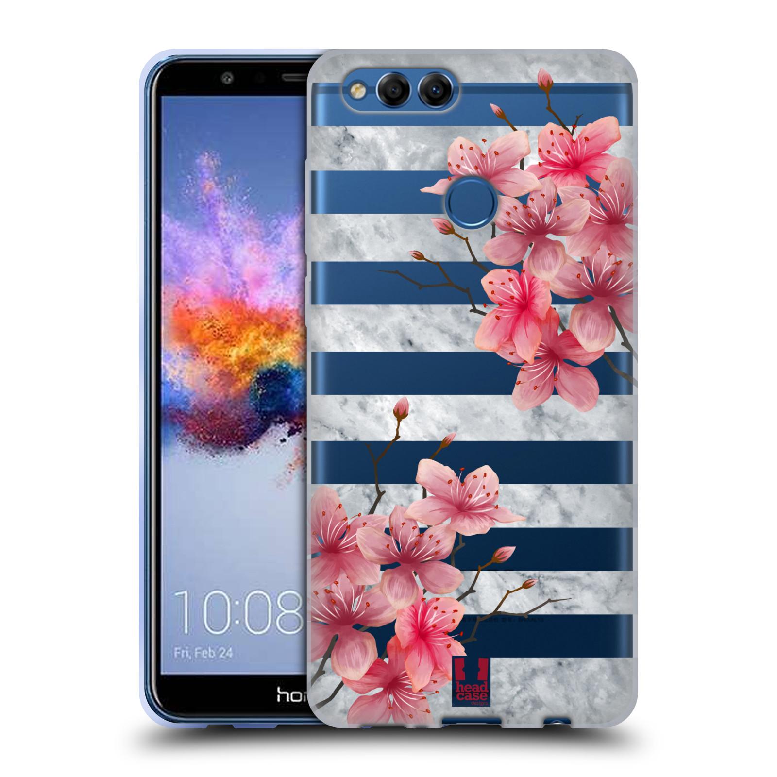 Silikonové pouzdro na mobil Honor 7X - Head Case - Kvítka a mramor