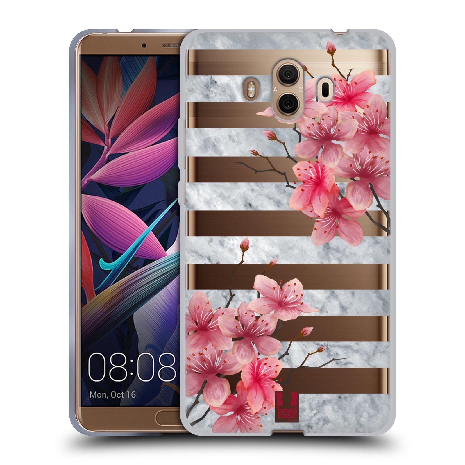 Silikonové pouzdro na mobil Huawei Mate 10 - Head Case - Kvítka a mramor