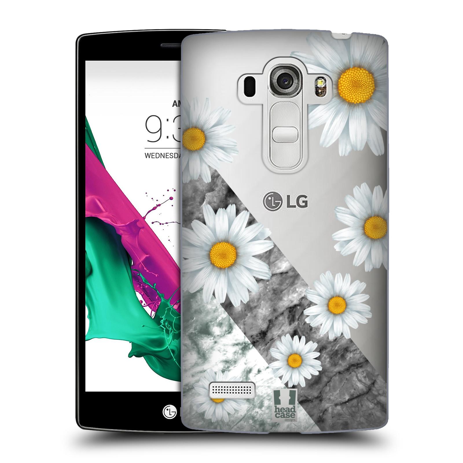 Plastové pouzdro na mobil LG G4s - Head Case - Kopretiny a mramor