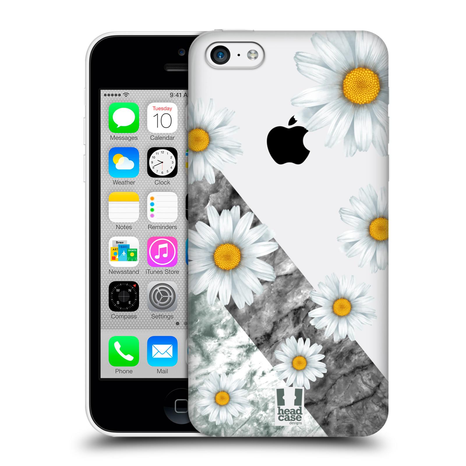 Plastové pouzdro na mobil Apple iPhone 5C - Head Case - Kopretiny a mramor