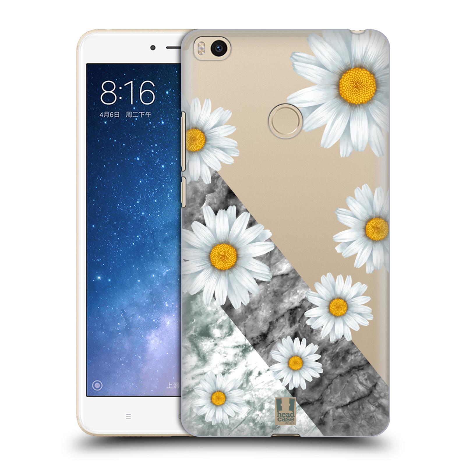 Plastové pouzdro na mobil Xiaomi Mi Max 2 - Head Case - Kopretiny a mramor