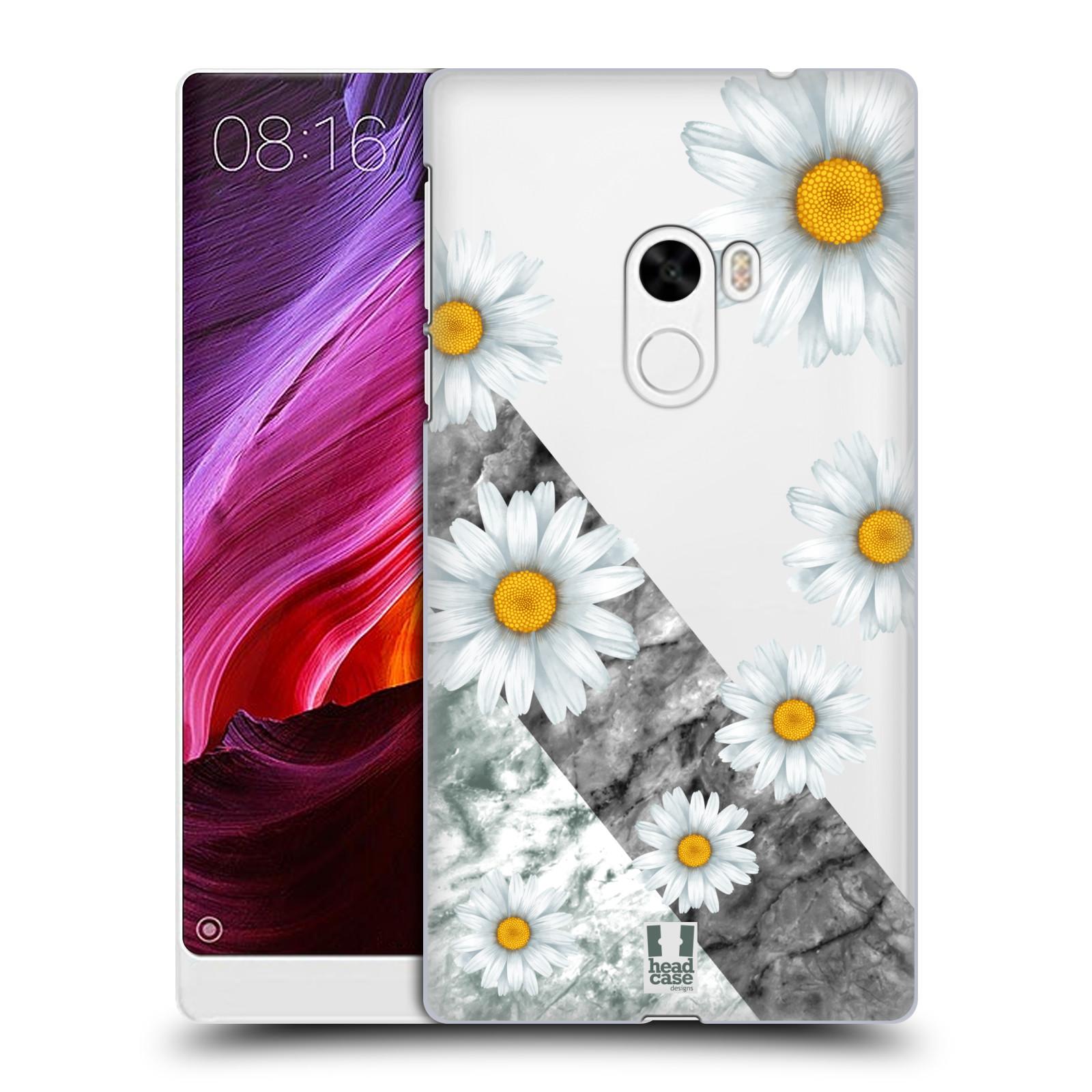 Plastové pouzdro na mobil Xiaomi Mi Mix - Head Case - Kopretiny a mramor