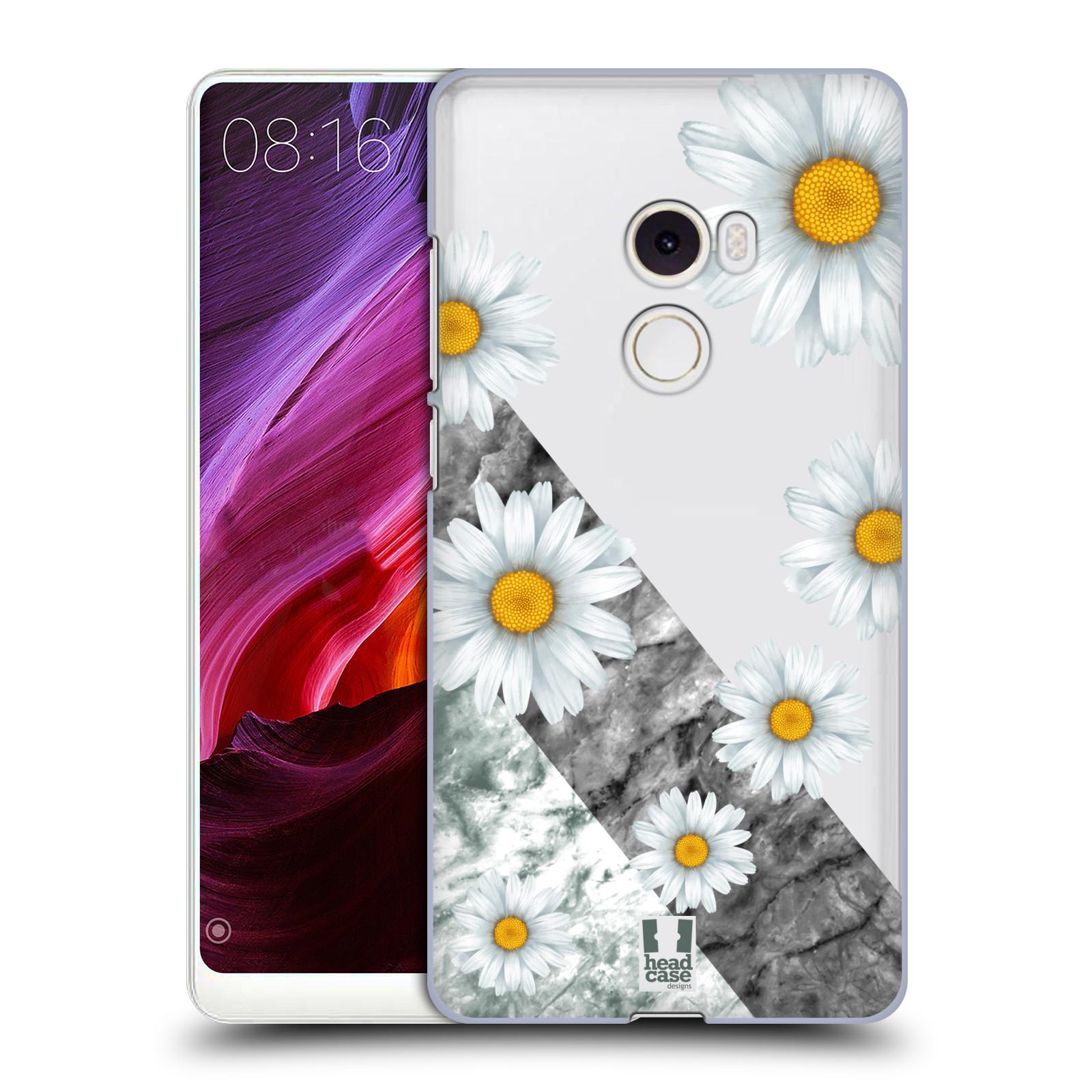 Plastové pouzdro na mobil Xiaomi Mi Mix 2 - Head Case - Kopretiny a mramor